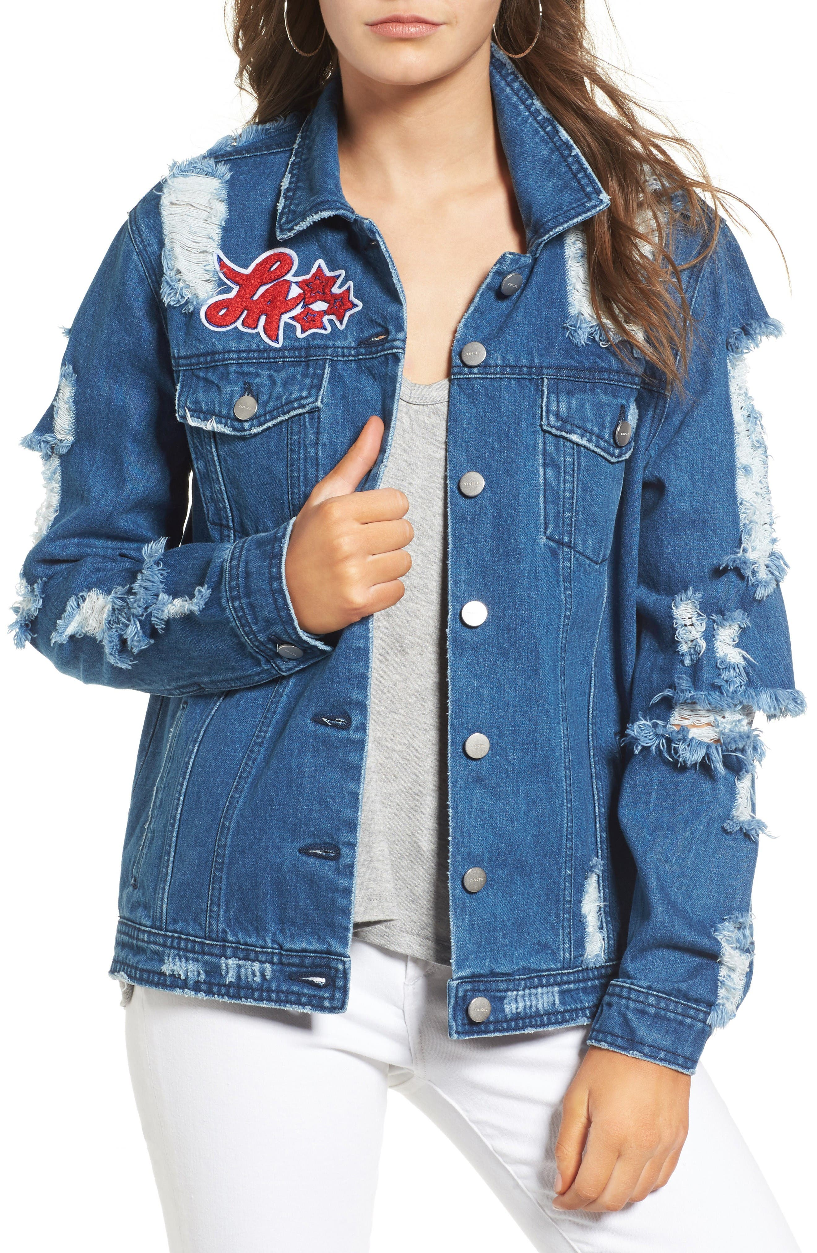 Alternate Image 1 Selected - BP. Squad Ripped Denim Jacket