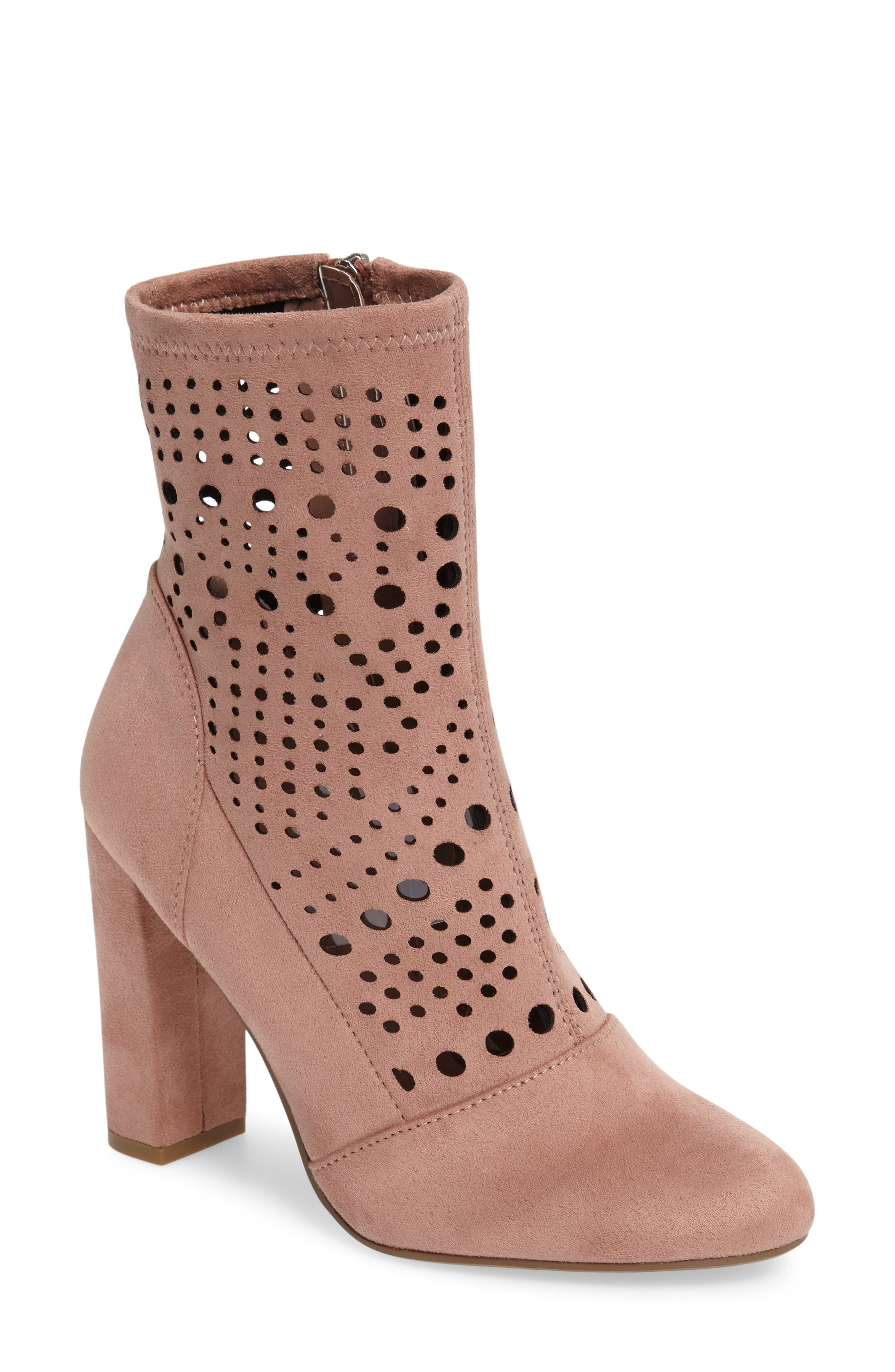 Alternate Image 1 Selected - Steve Madden Ennie Perforated Bootie (Women)