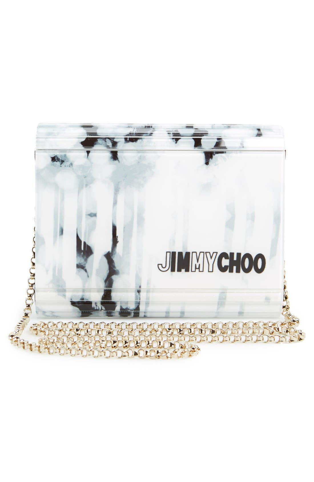 Alternate Image 6  - Jimmy Choo 'Candy - Palm Tree' Asymmetrical Flap Acrylic Clutch