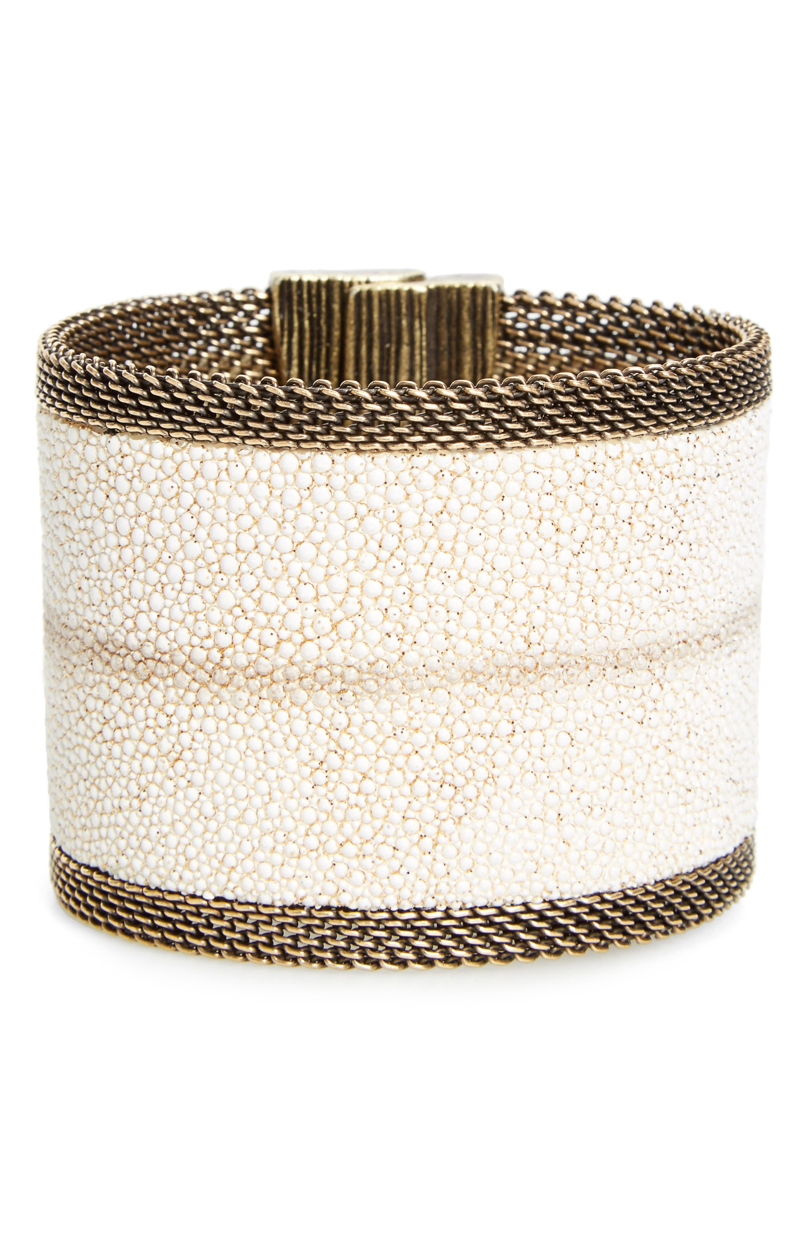 CYNTHIA DESSER Genuine Stingray Skin Bracelet