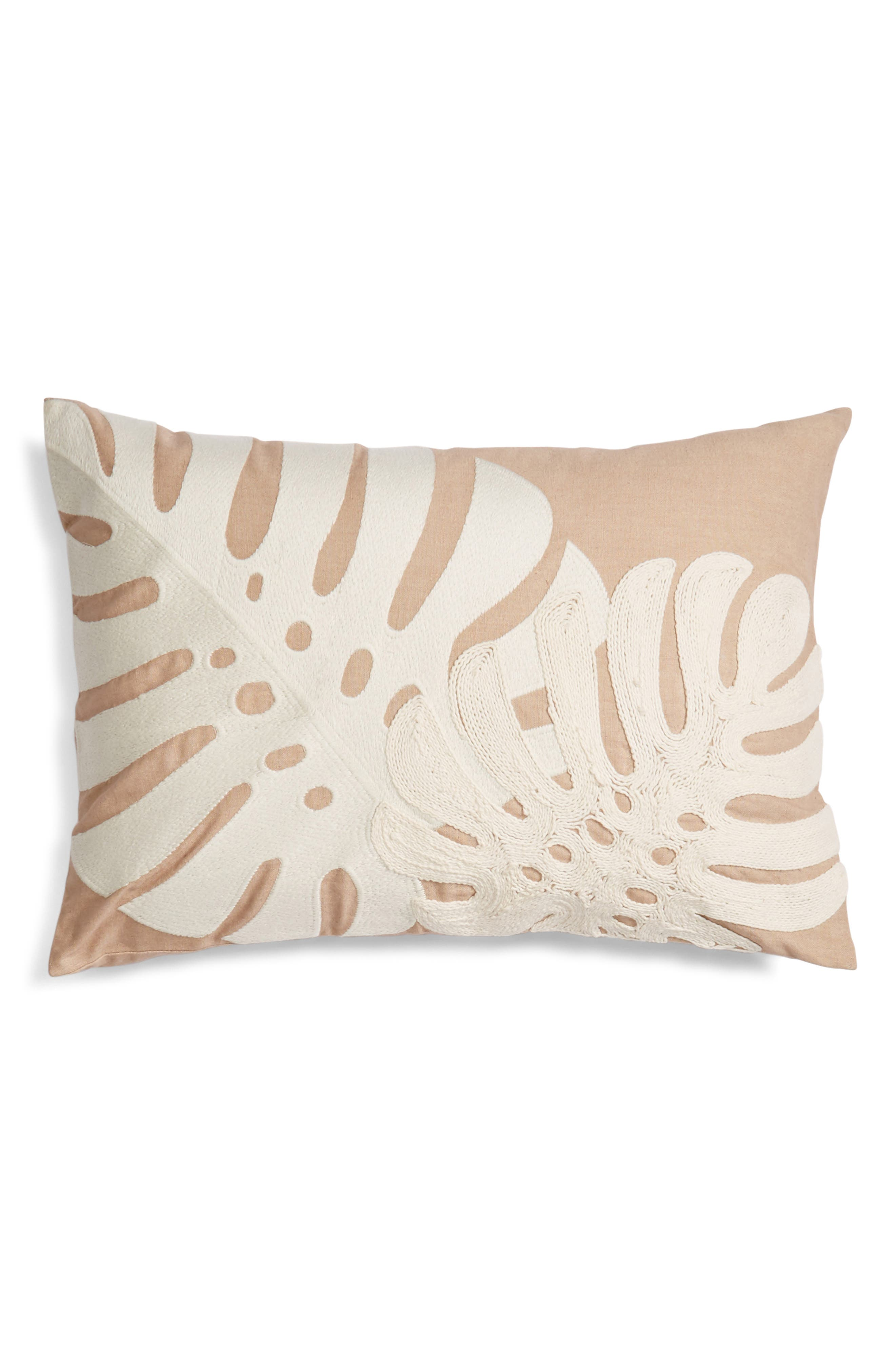 Nordstrom at Home Palm Embroidered Accent Pillow