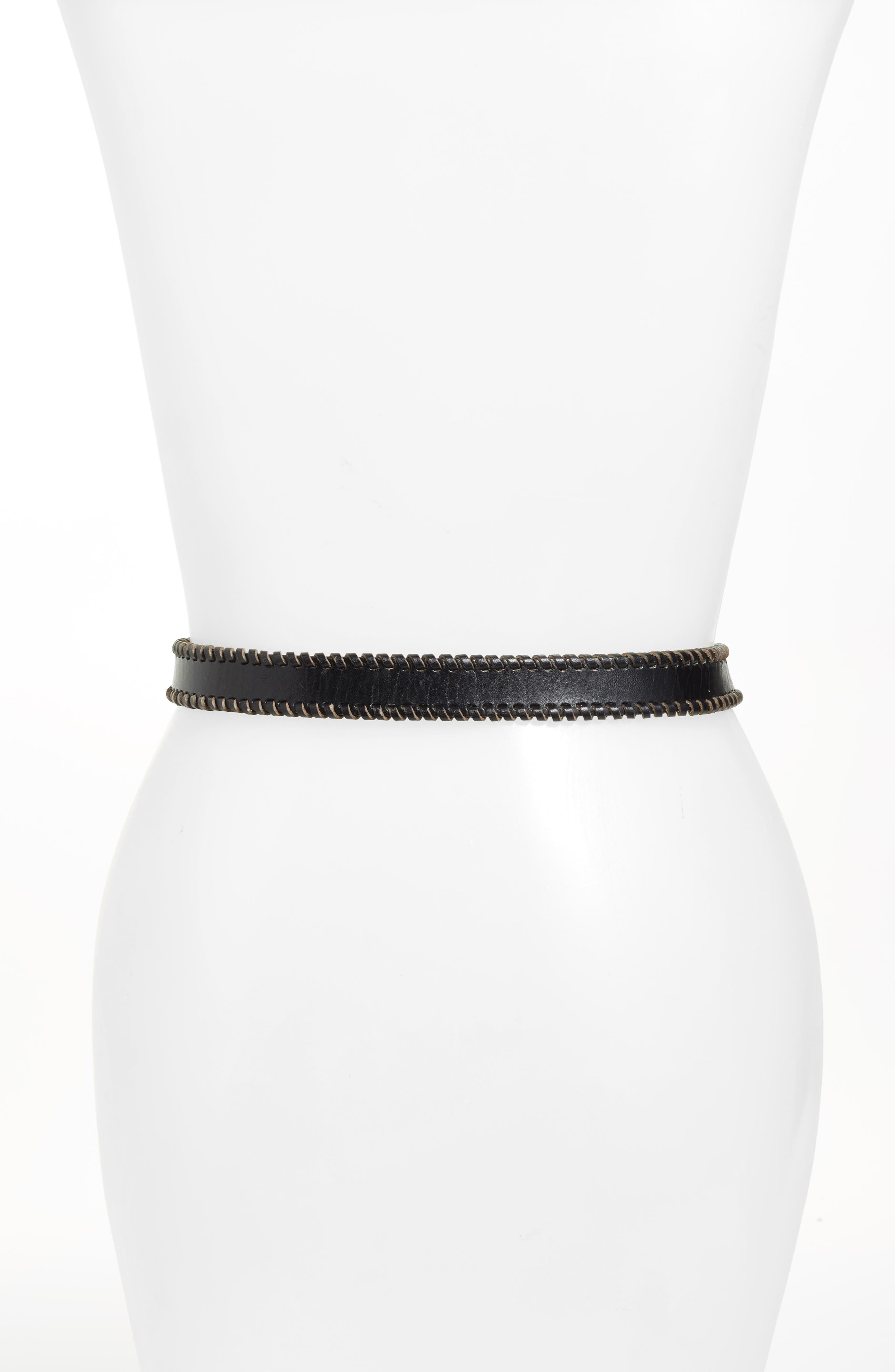 Alternate Image 2  - Rebecca Minkoff Whipstitched Western Leather Belt