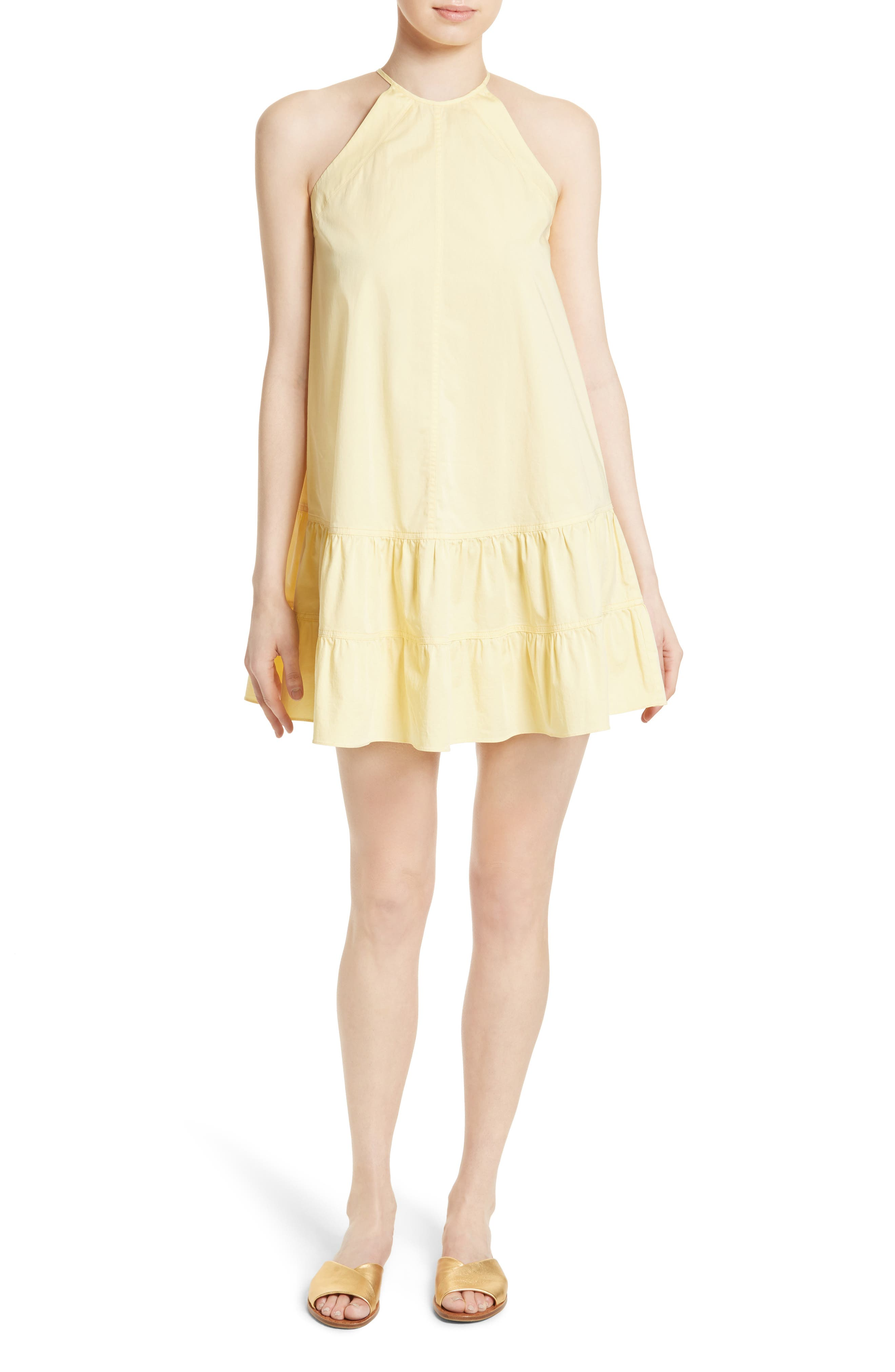 Alternate Image 1 Selected - Rebecca Taylor Stretch Cotton Shift Dress