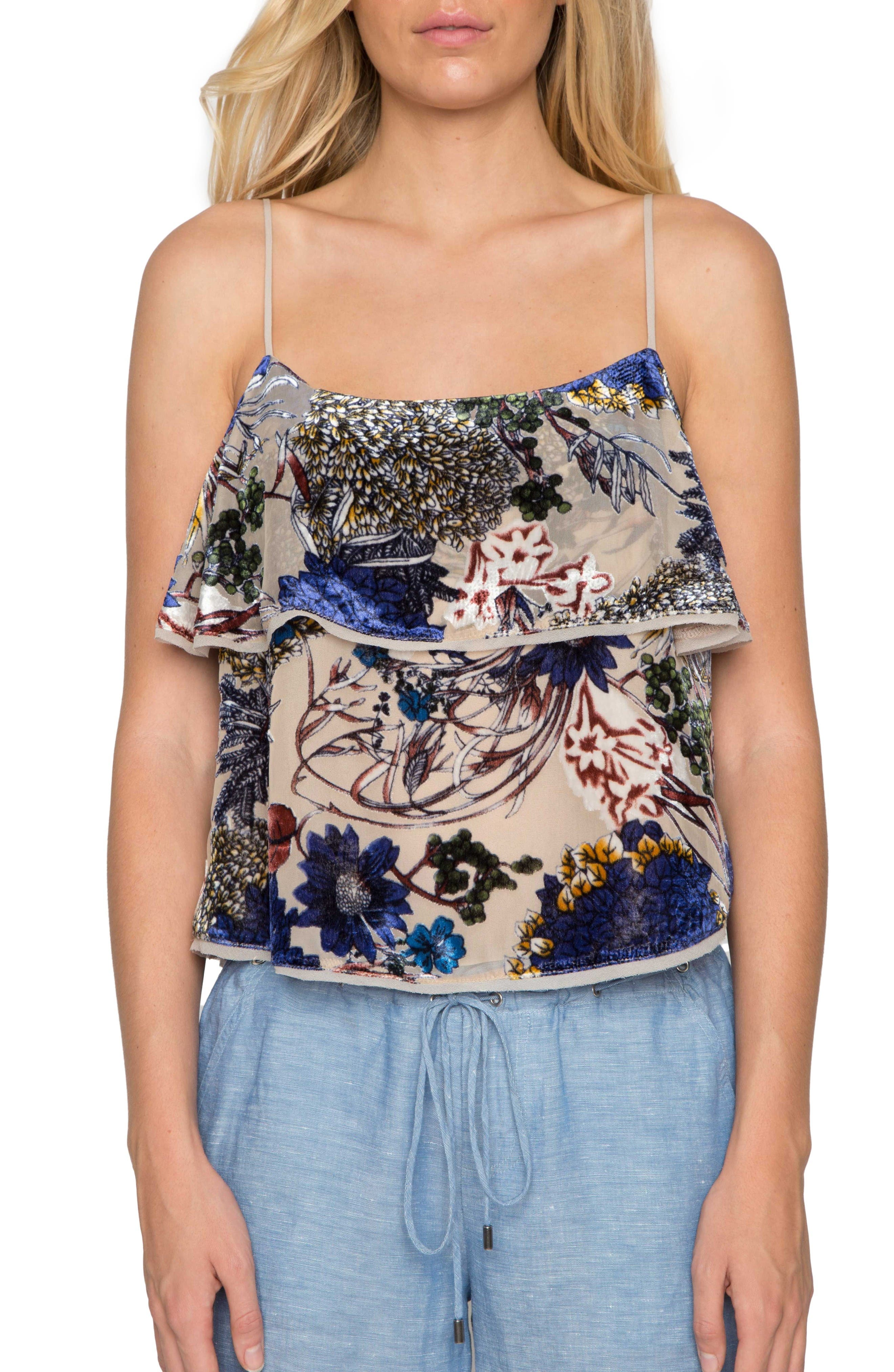 Willow & Clay Velvet Burnout Camisole