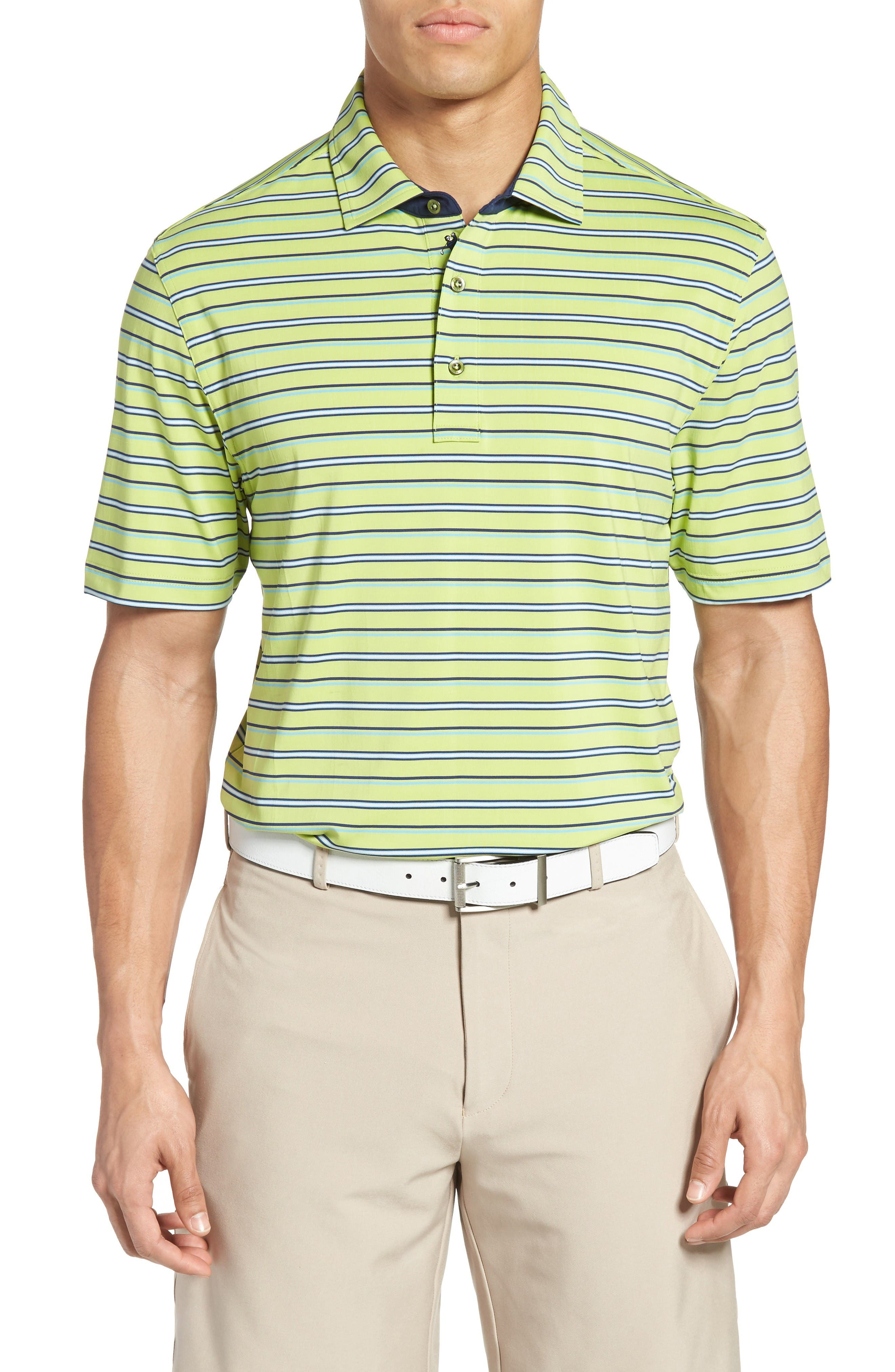 Bobby Jones XH20 Coney Stripe Stretch Golf Polo