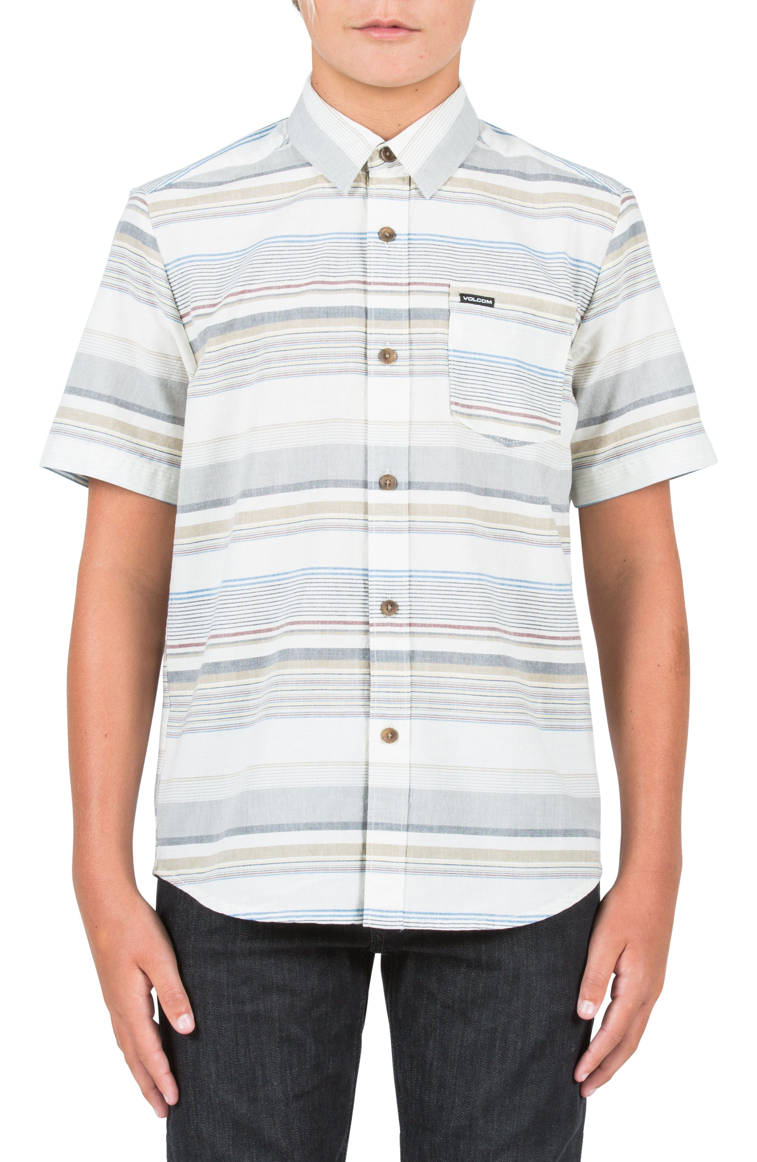 Volcom Rambler Short Sleeve Woven Shirt (Big Boys)