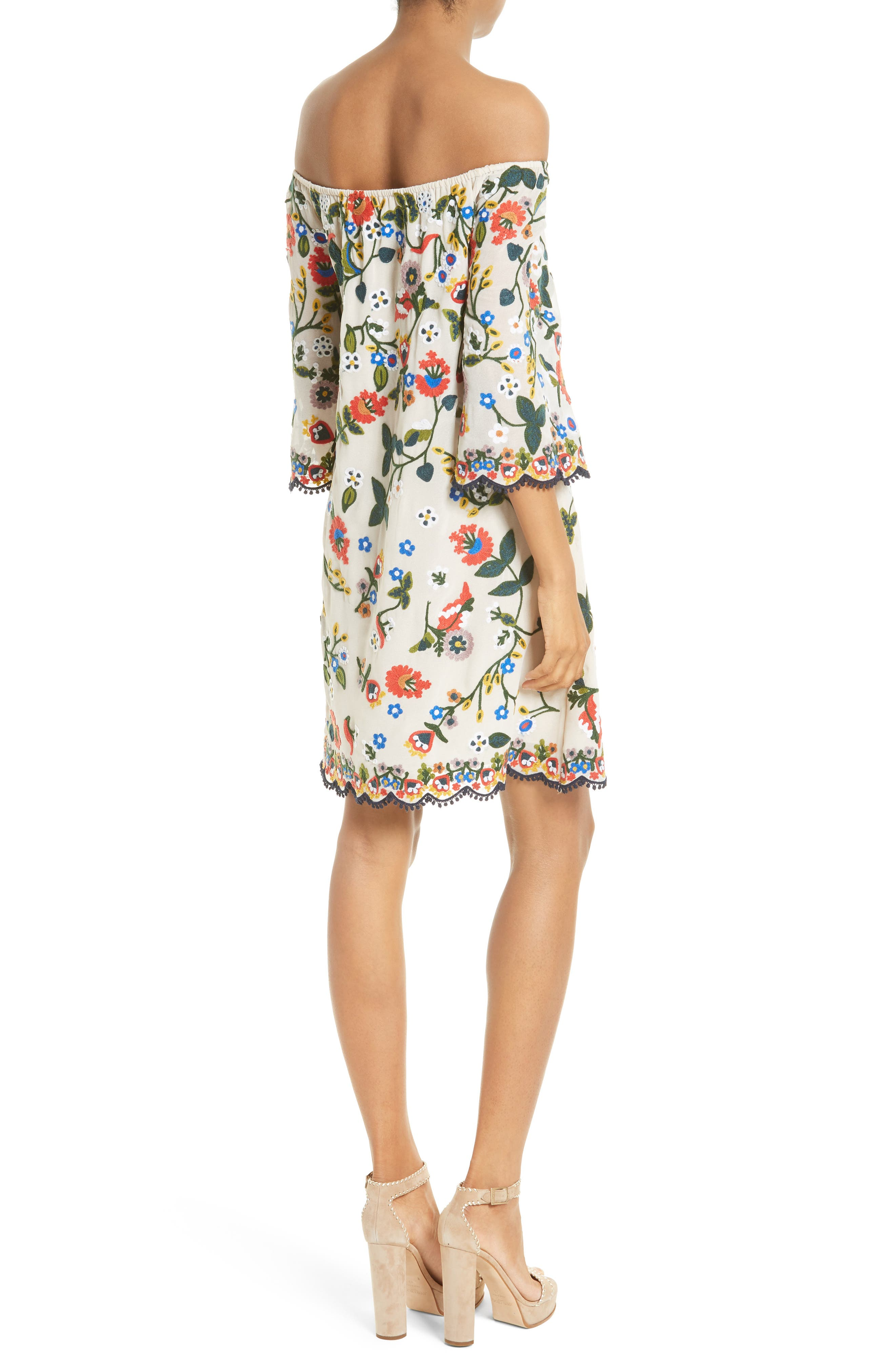 Alternate Image 2  - Alice + Olivia Christiana Off the Shoulder Shift Dress