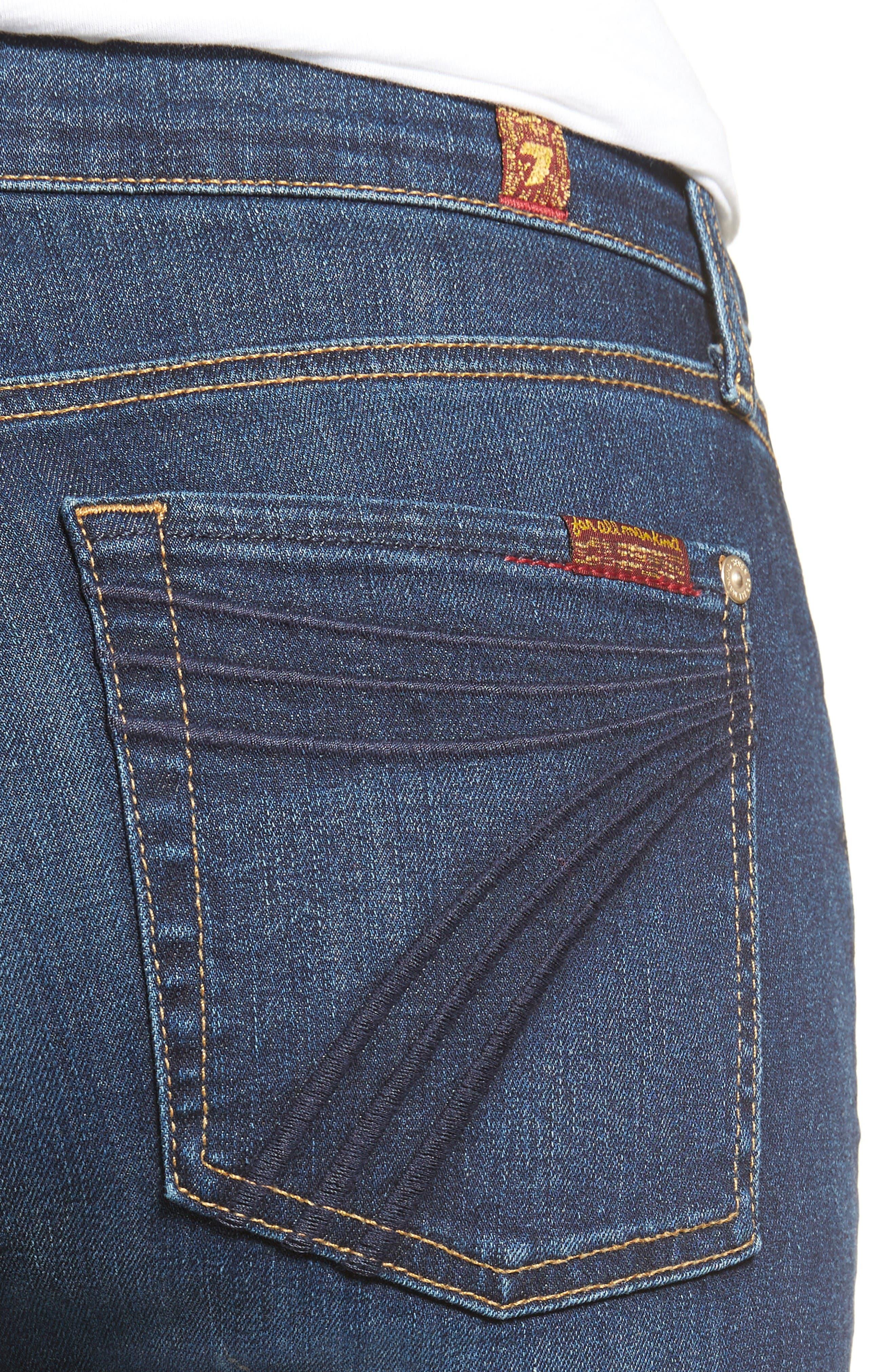 Alternate Image 4  - 7 For All Mankind® Dojo High Waist Wide Leg Jeans (Santiago Canyon)