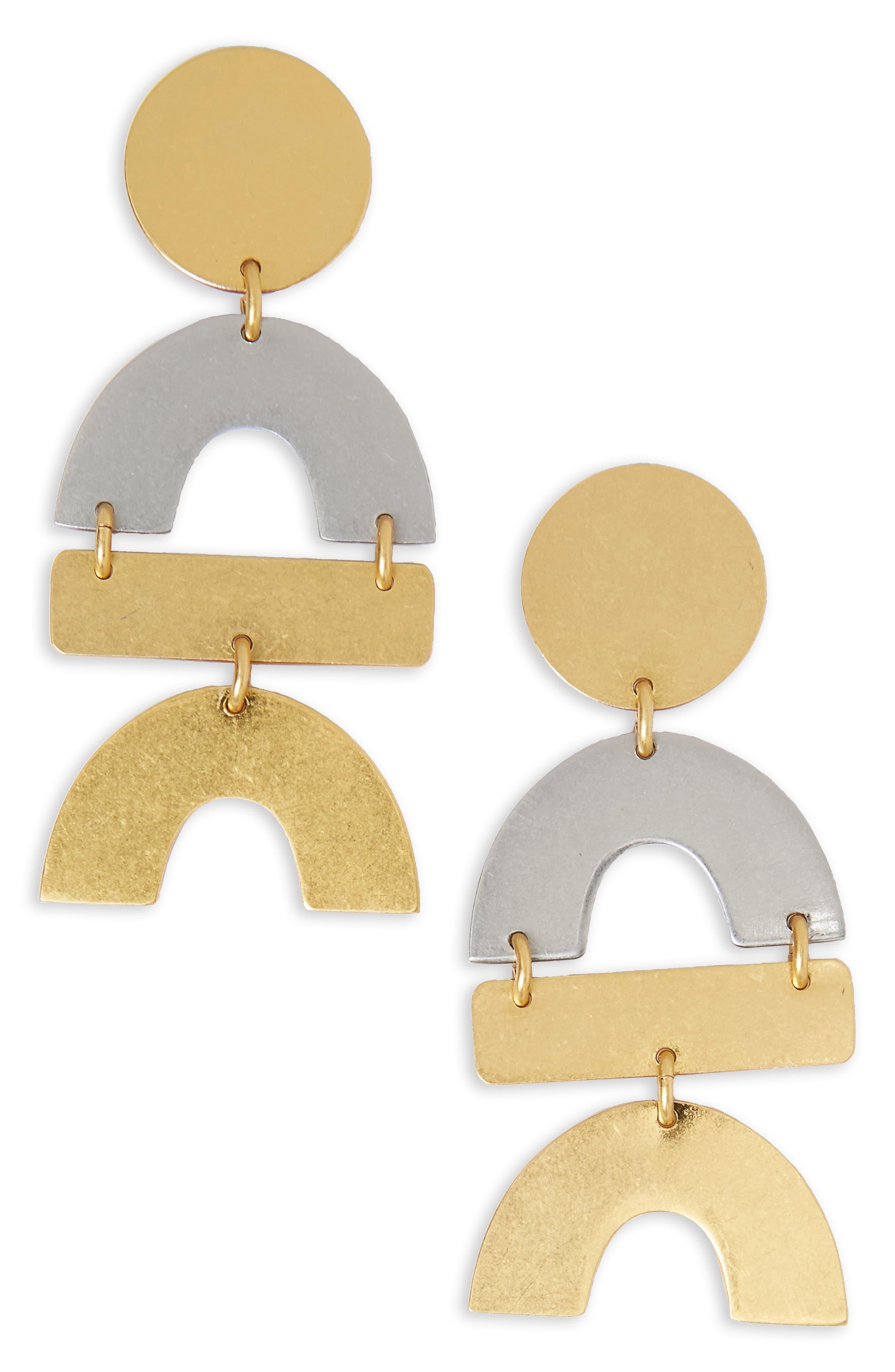 Main Image - Madewell Flatform Statement Earrings