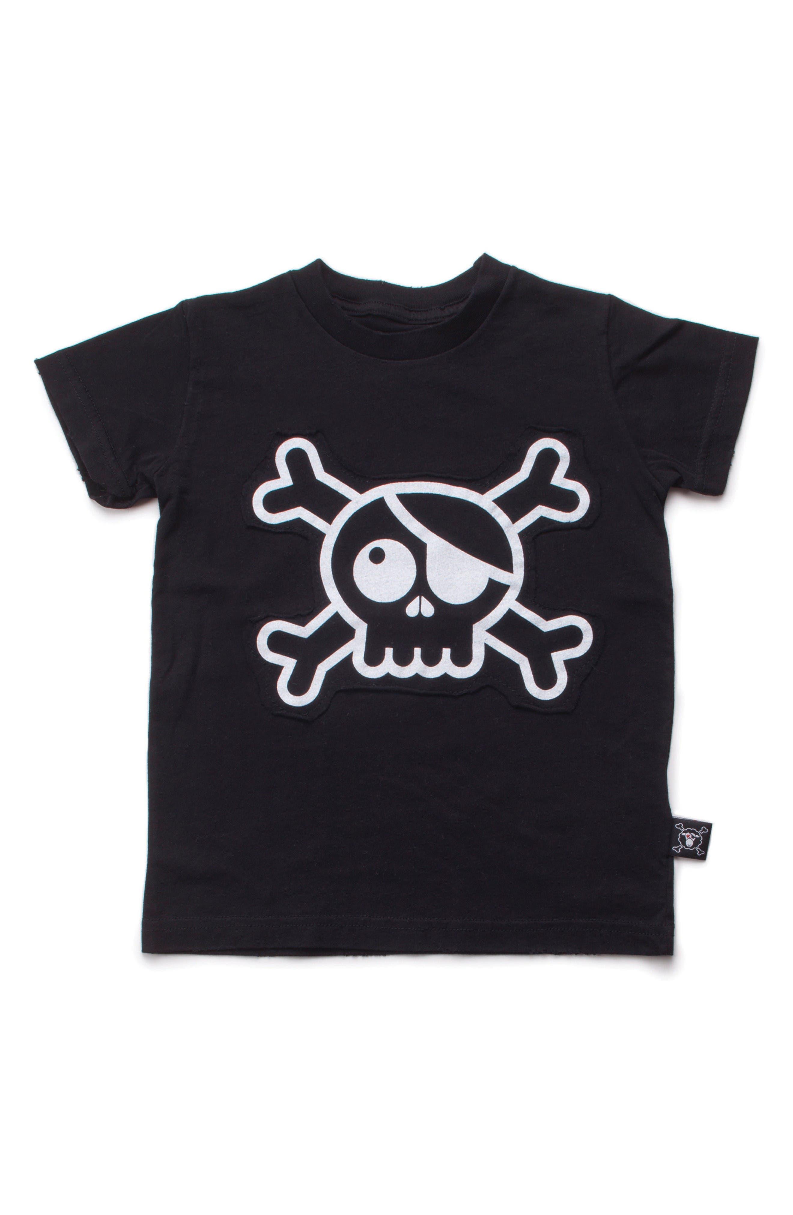 NUNUNU Skull Patch T-Shirt (Baby Boys)