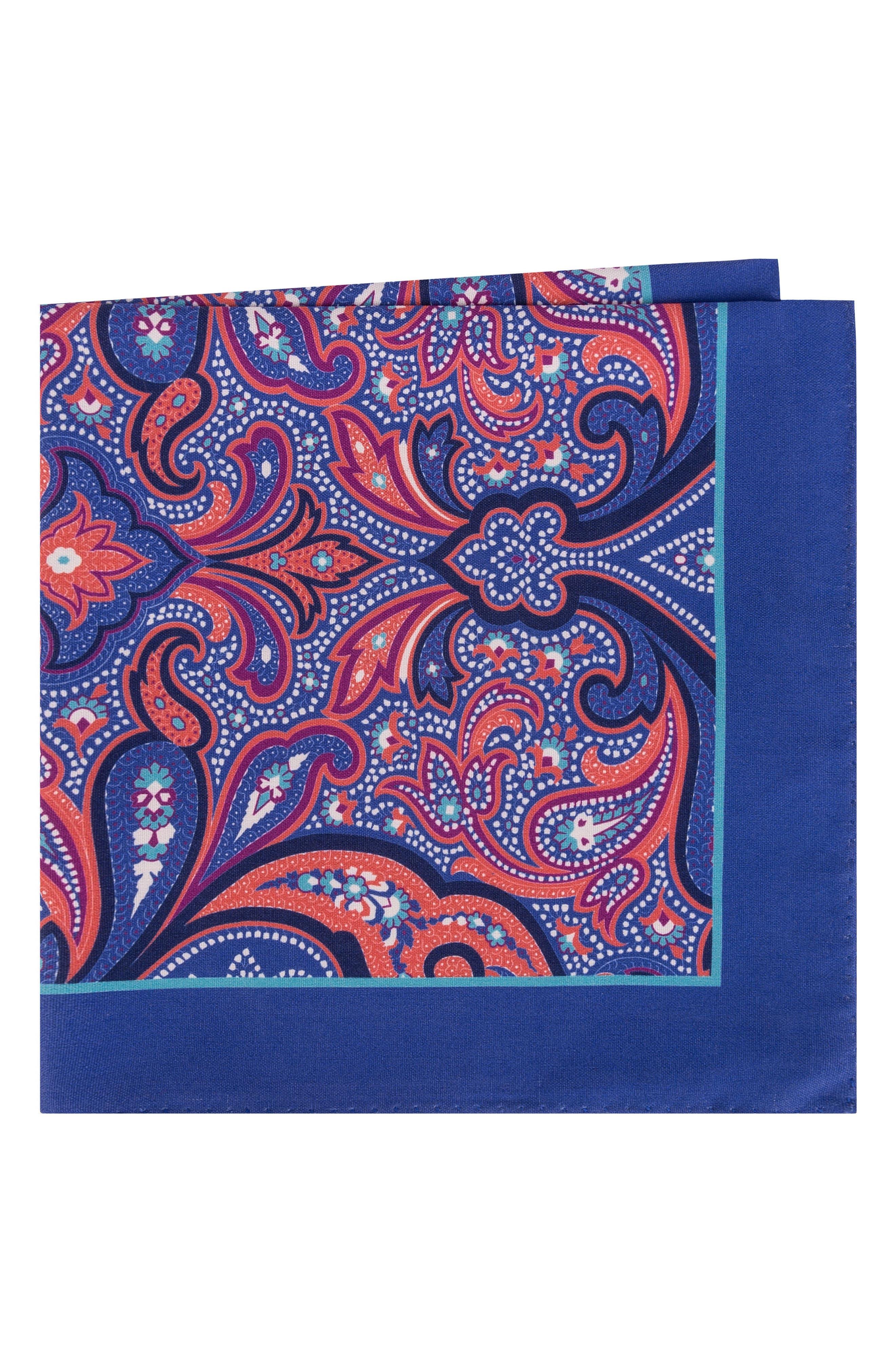 Ted Baker London Royal Paisley Silk Pocket Square