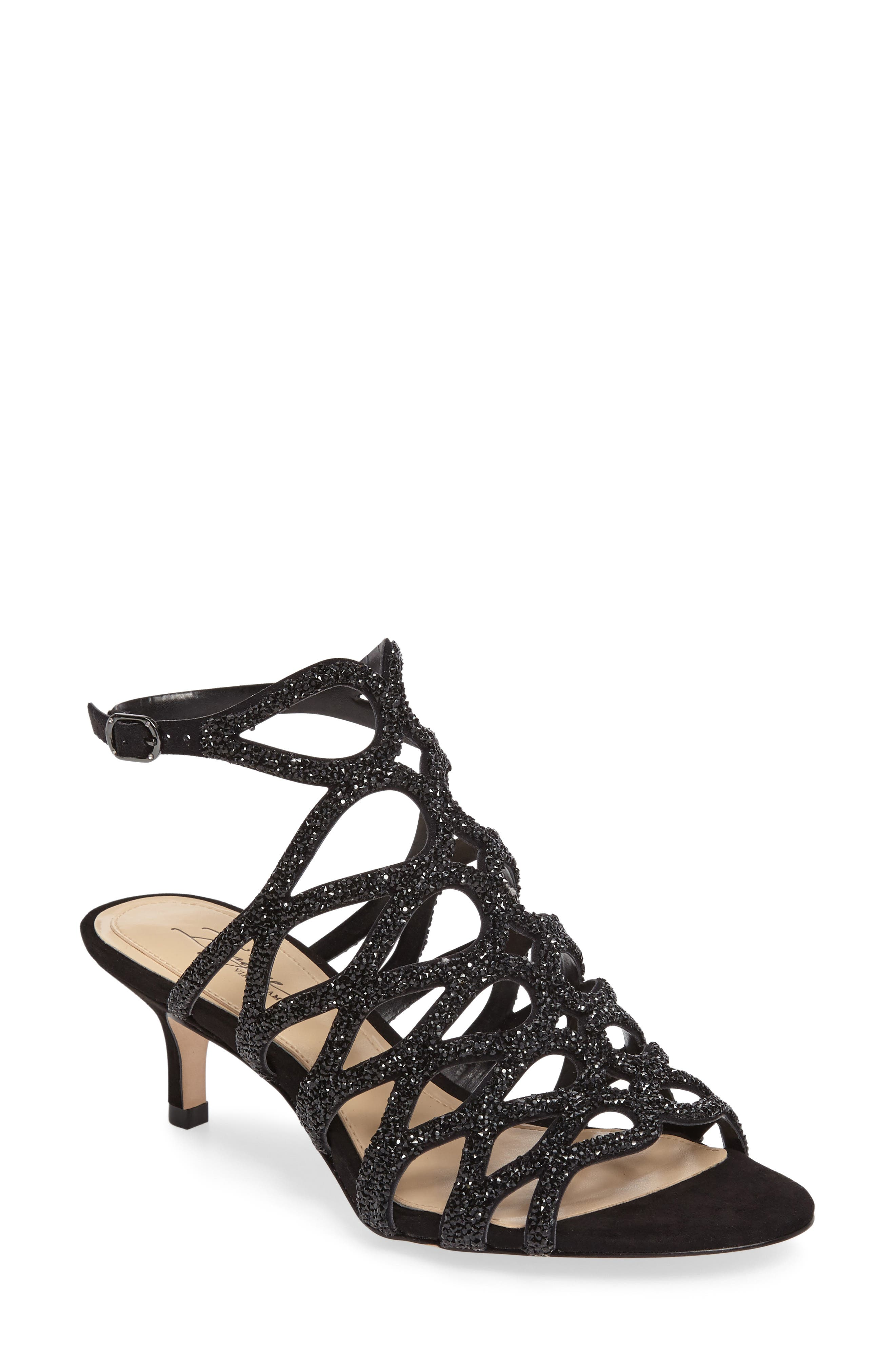 Imagine by Vince Camuto Kami Glitter Cage Sandal (Women)