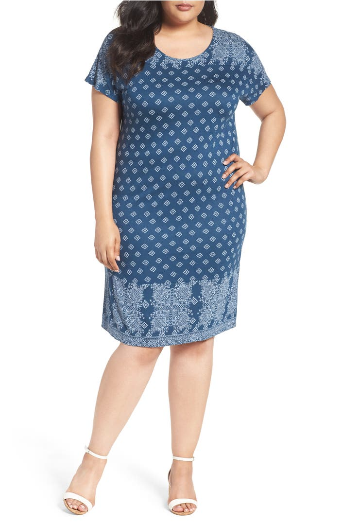 Lucky brand bandana print t shirt dress plus size for Handkerchief shirt plus size