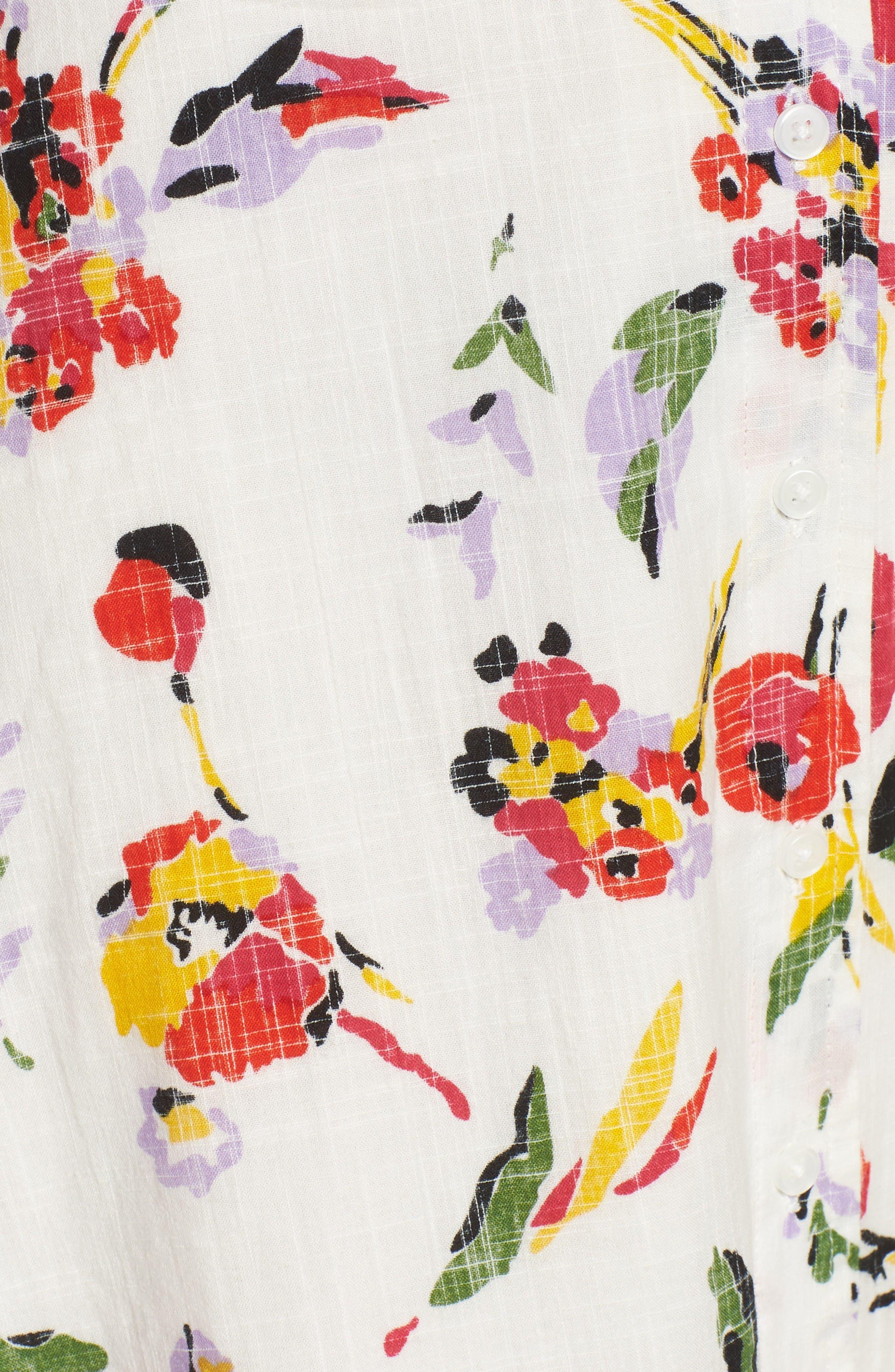 Alternate Image 5  - Obey Desi Floral Print Cotton Dress