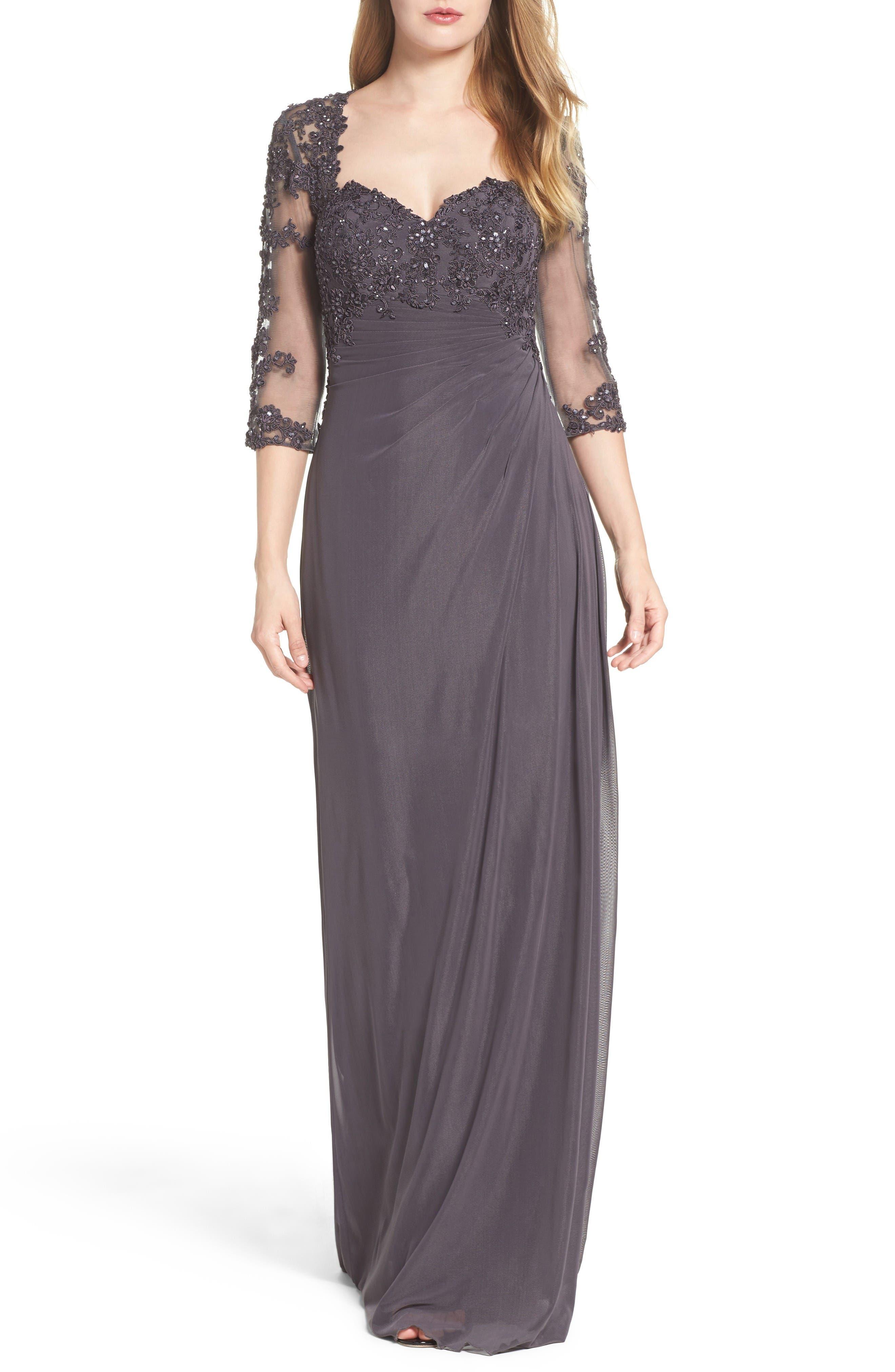 La Femme Embellished Gown