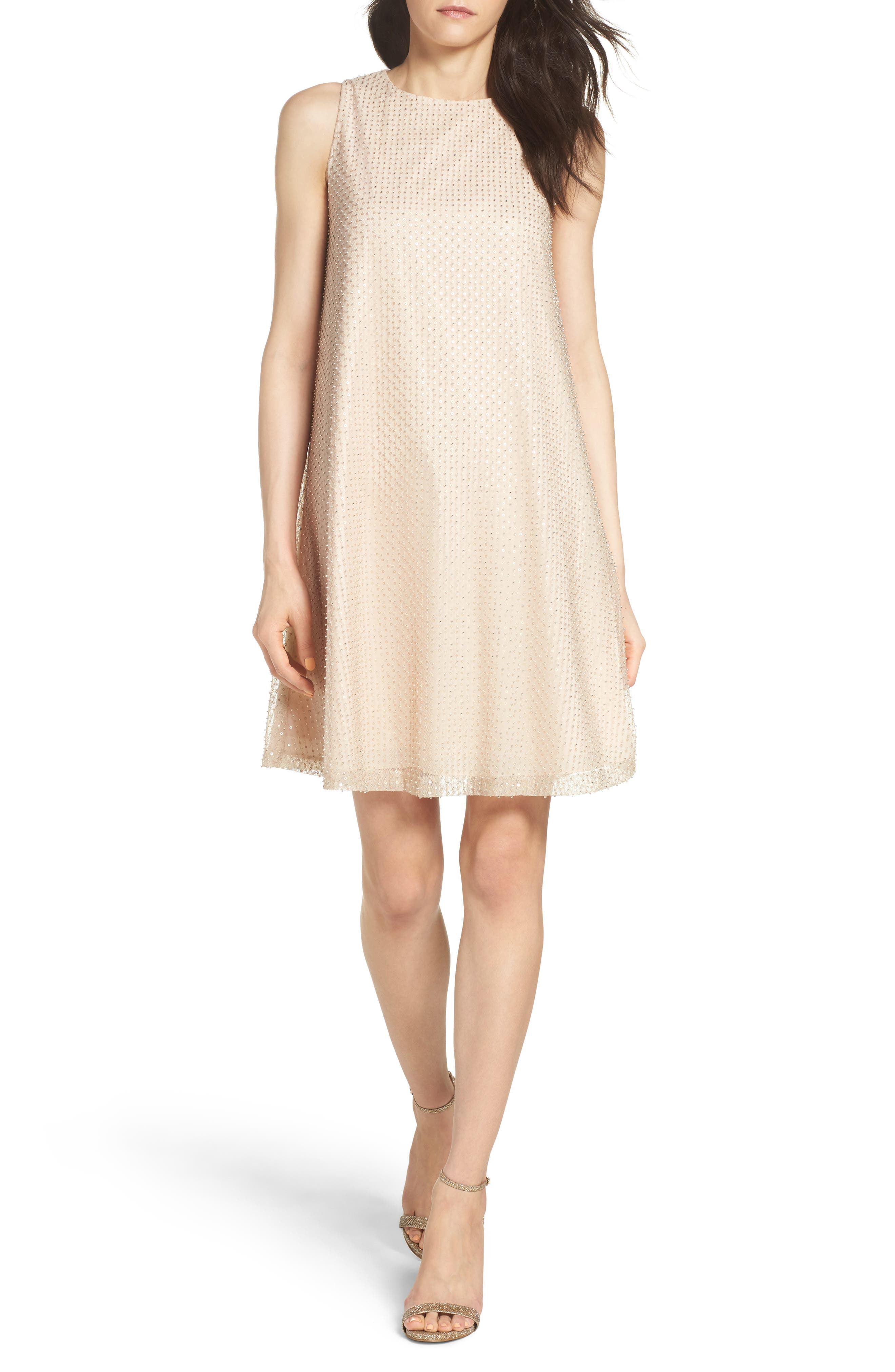 Aidan by Aidan Mattox Mesh Swing Dress