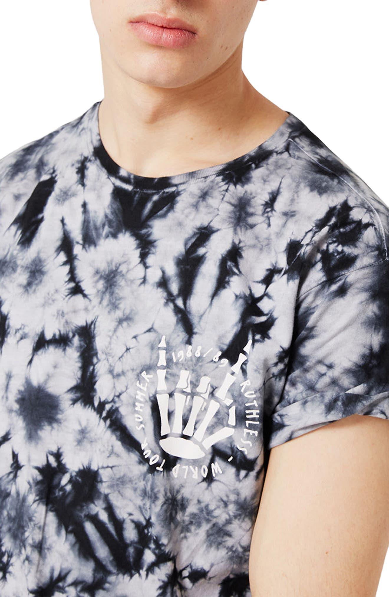 Alternate Image 4  - Topman Ruthless Graphic Tie Dye T-Shirt
