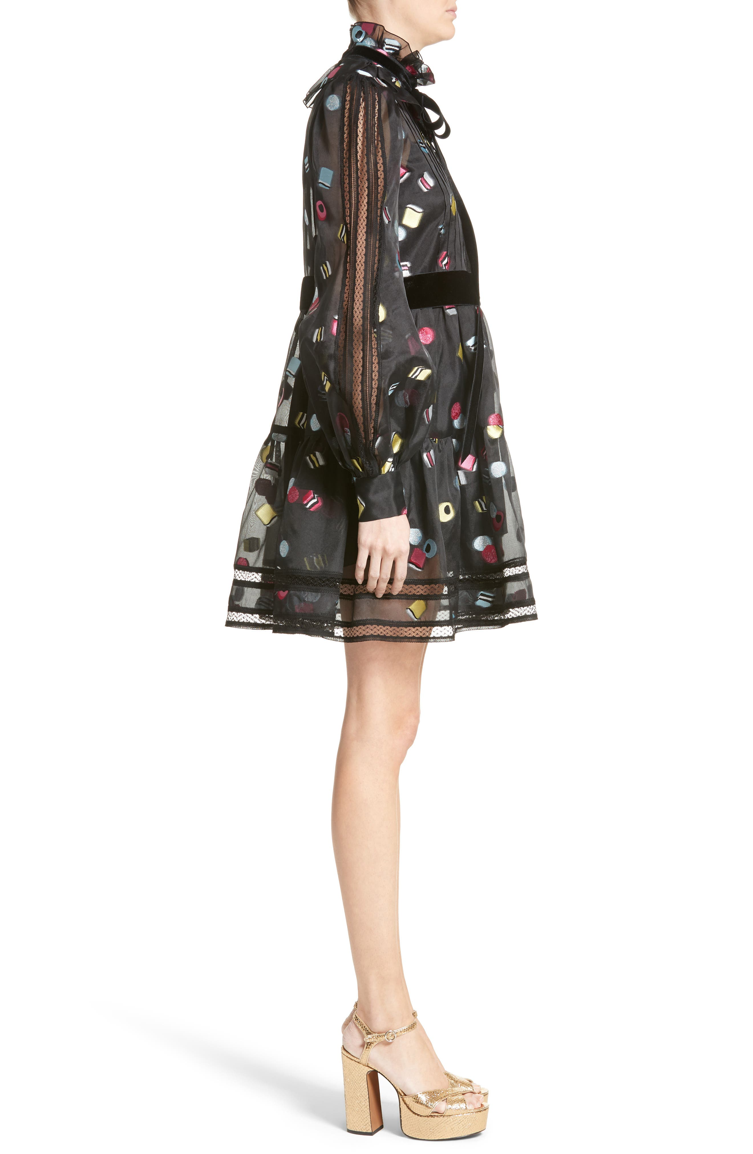 Alternate Image 5  - MARC JACOBS Licorice Fil Coupé Balloon Sleeve Dress (Nordstrom Exclusive)