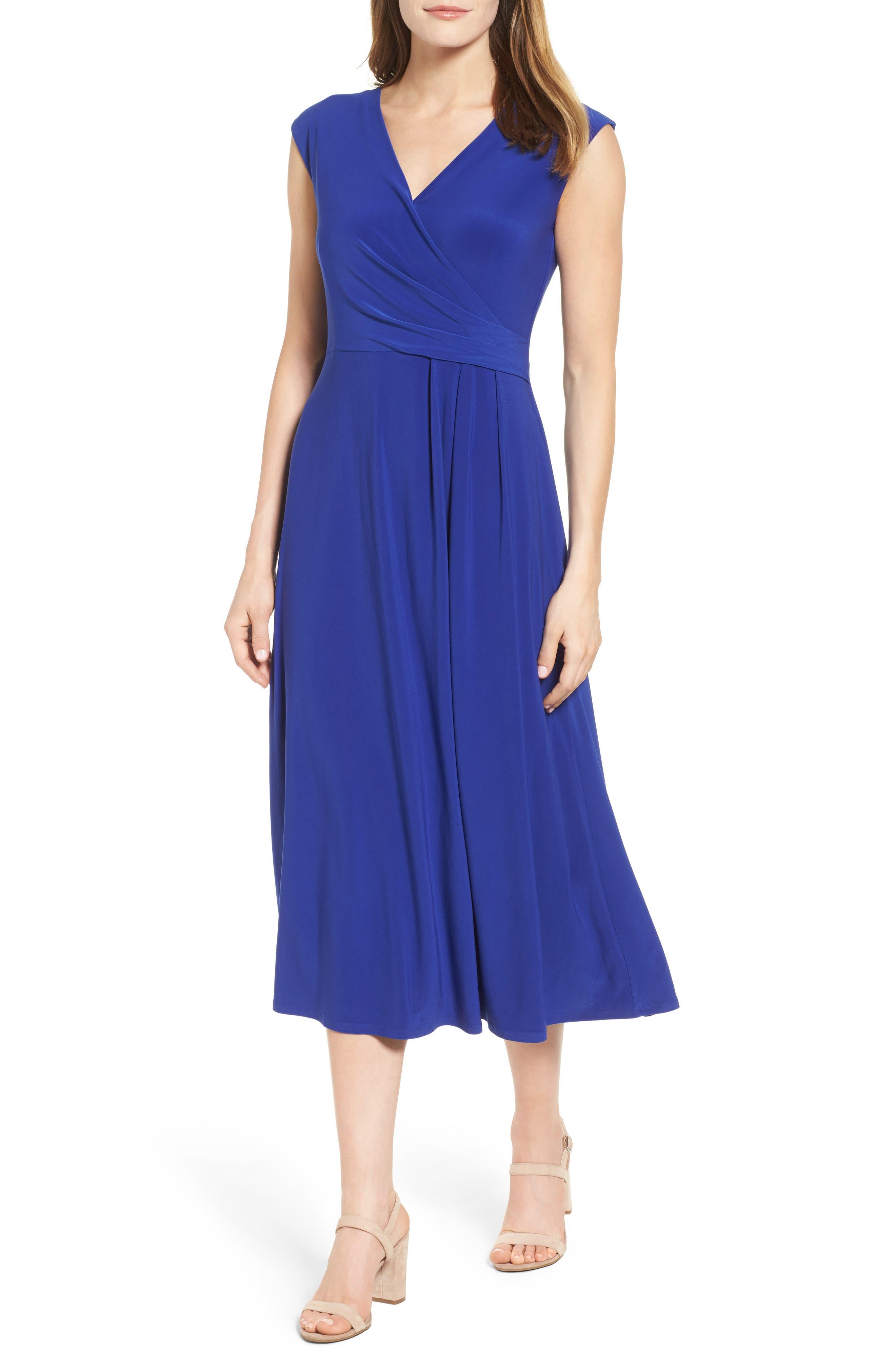 Main Image - Chaus Faux Wrap Midi Dress
