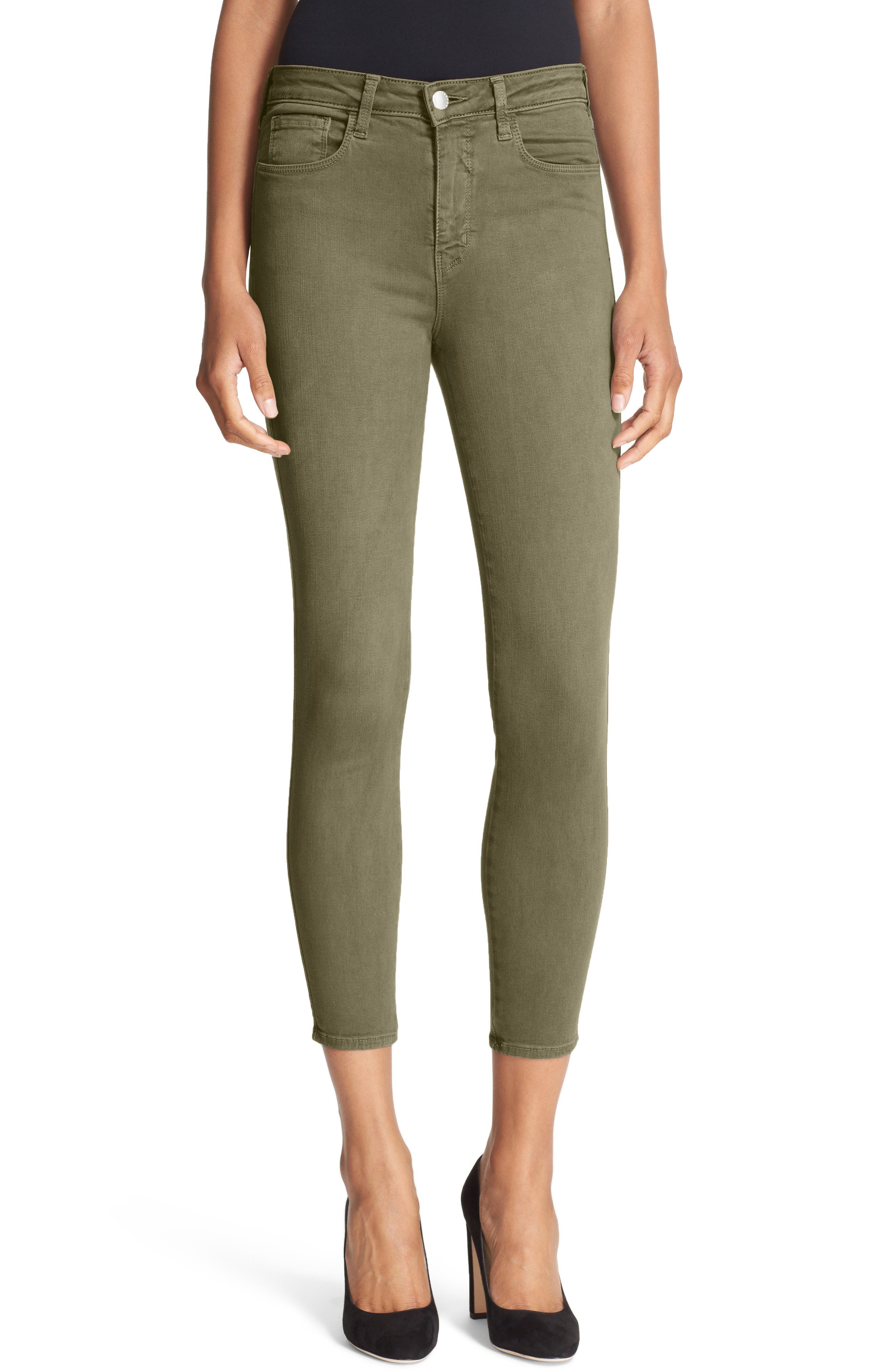 Alternate Image 1 Selected - L'AGENCE High Waist Skinny Ankle Jeans