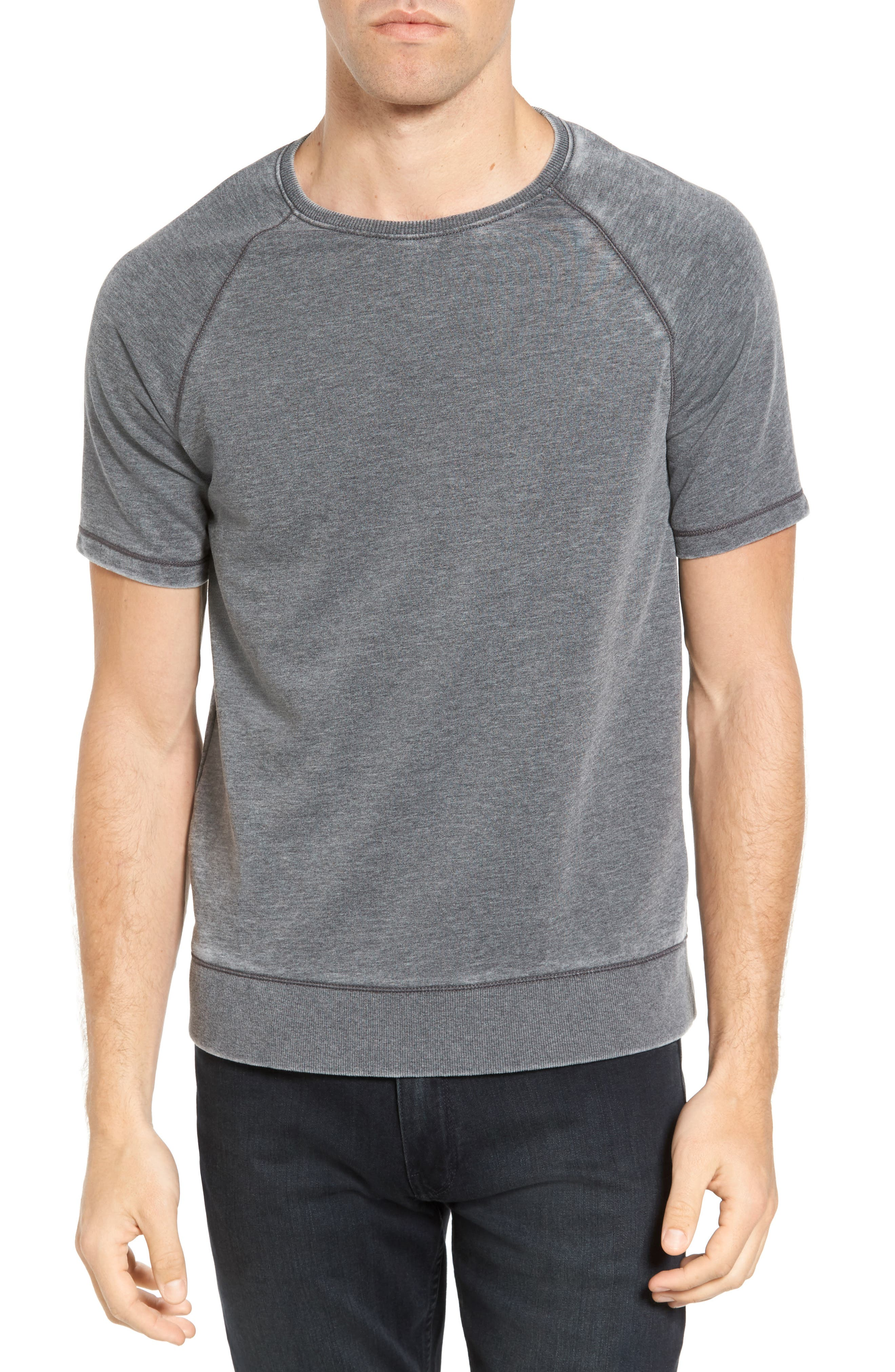 John Varvatos Star USA Short Sleeve French Terry Sweatshirt