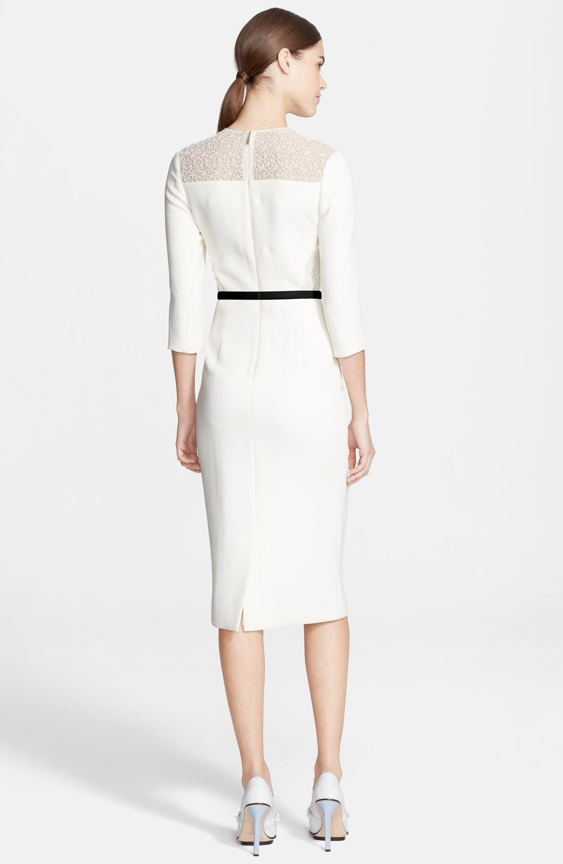Alternate Image 2  - Jason Wu Corded Lace Detail Crepe Dress
