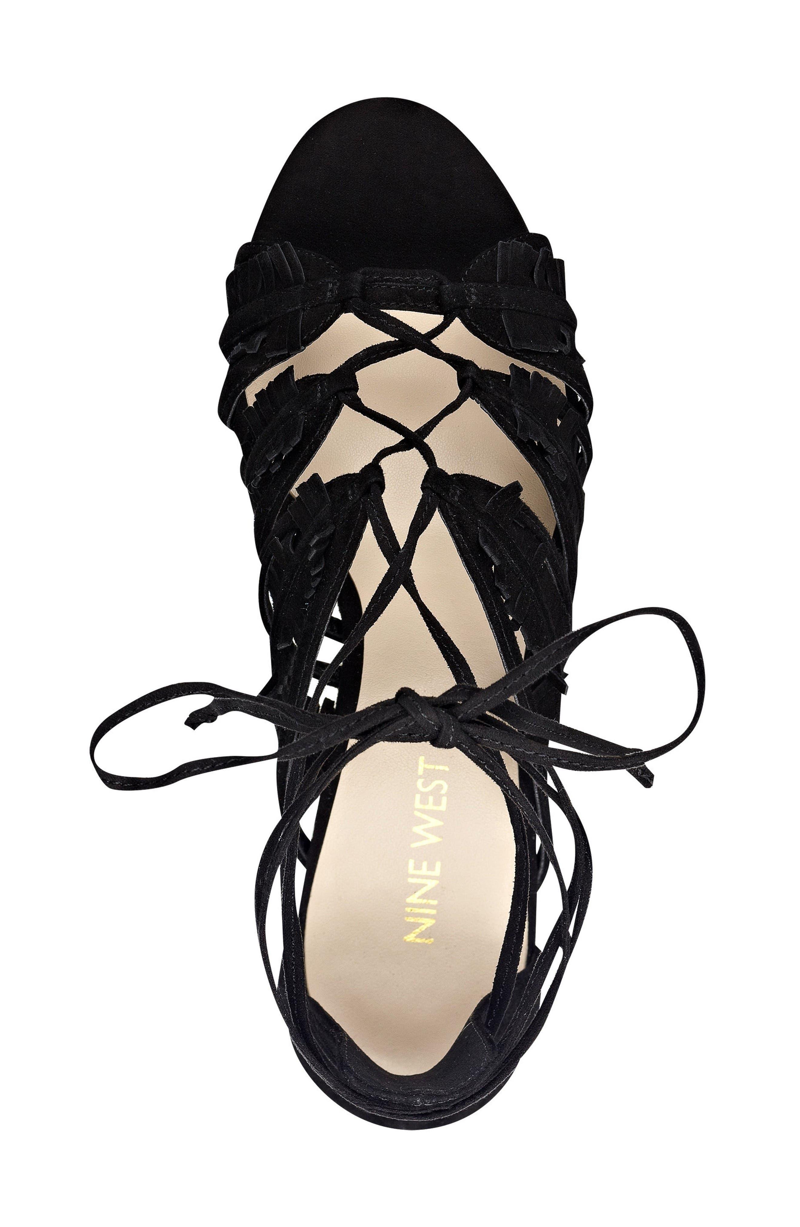 Alternate Image 4  - Nine West Genie Lace-Up Sandal (Women)