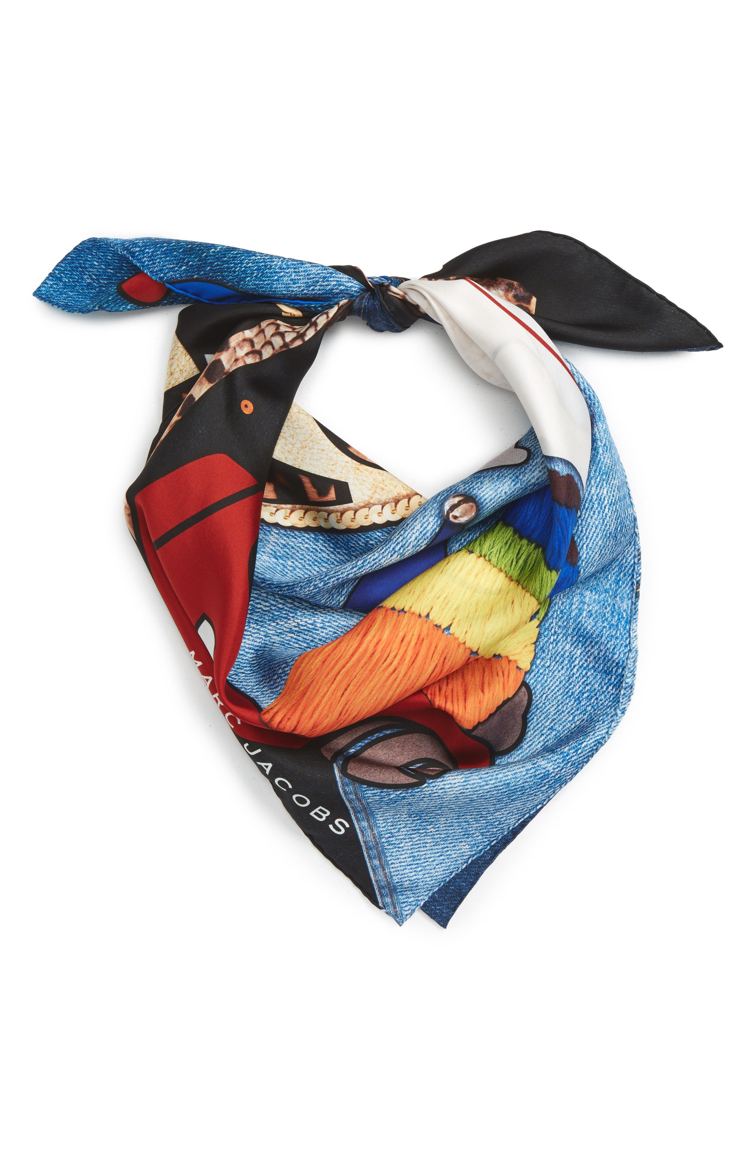 MARC JACOBS Embroidered Silk Scarf
