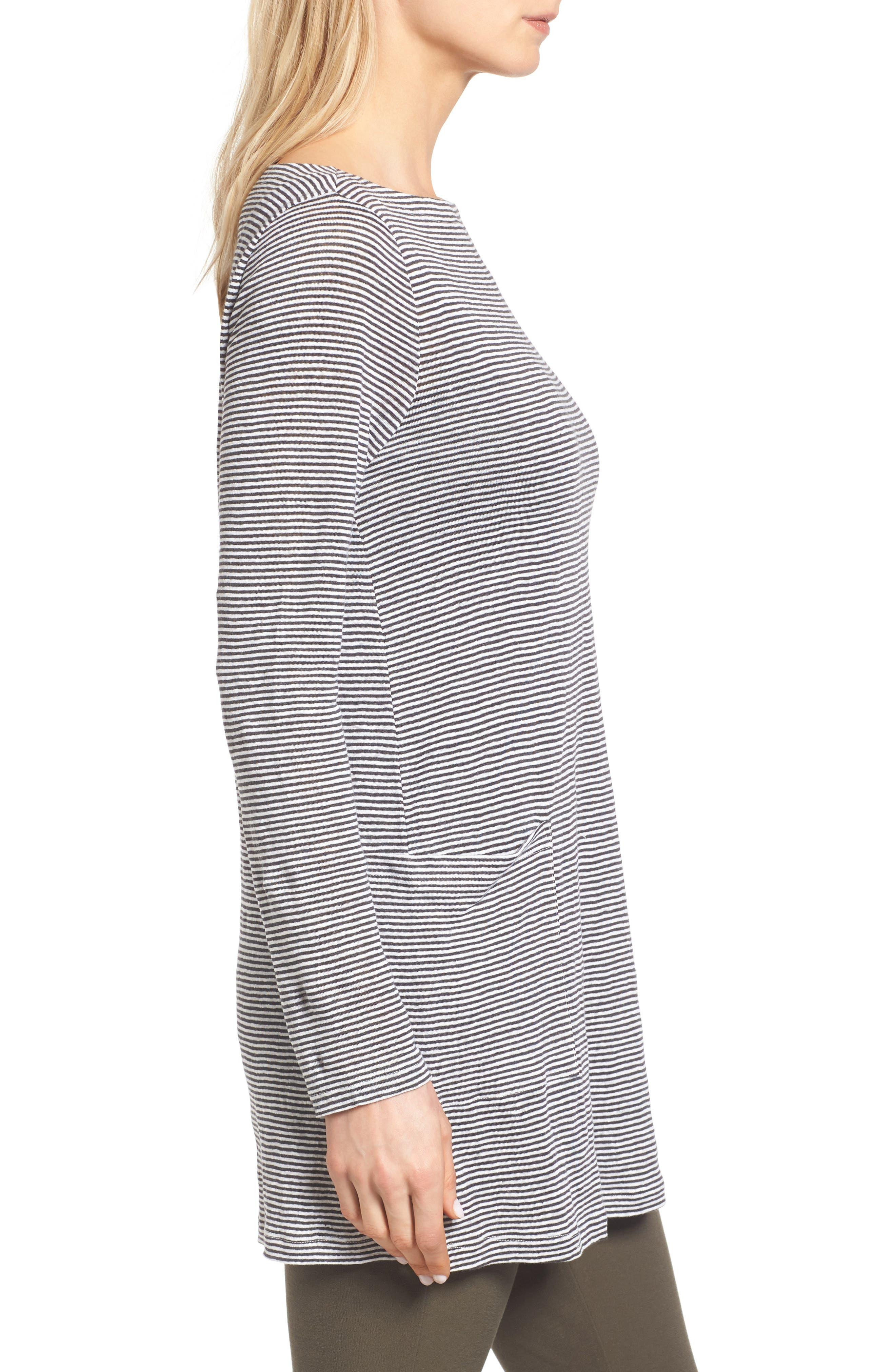 Alternate Image 3  - Eileen Fisher Organic Linen Knit Tunic