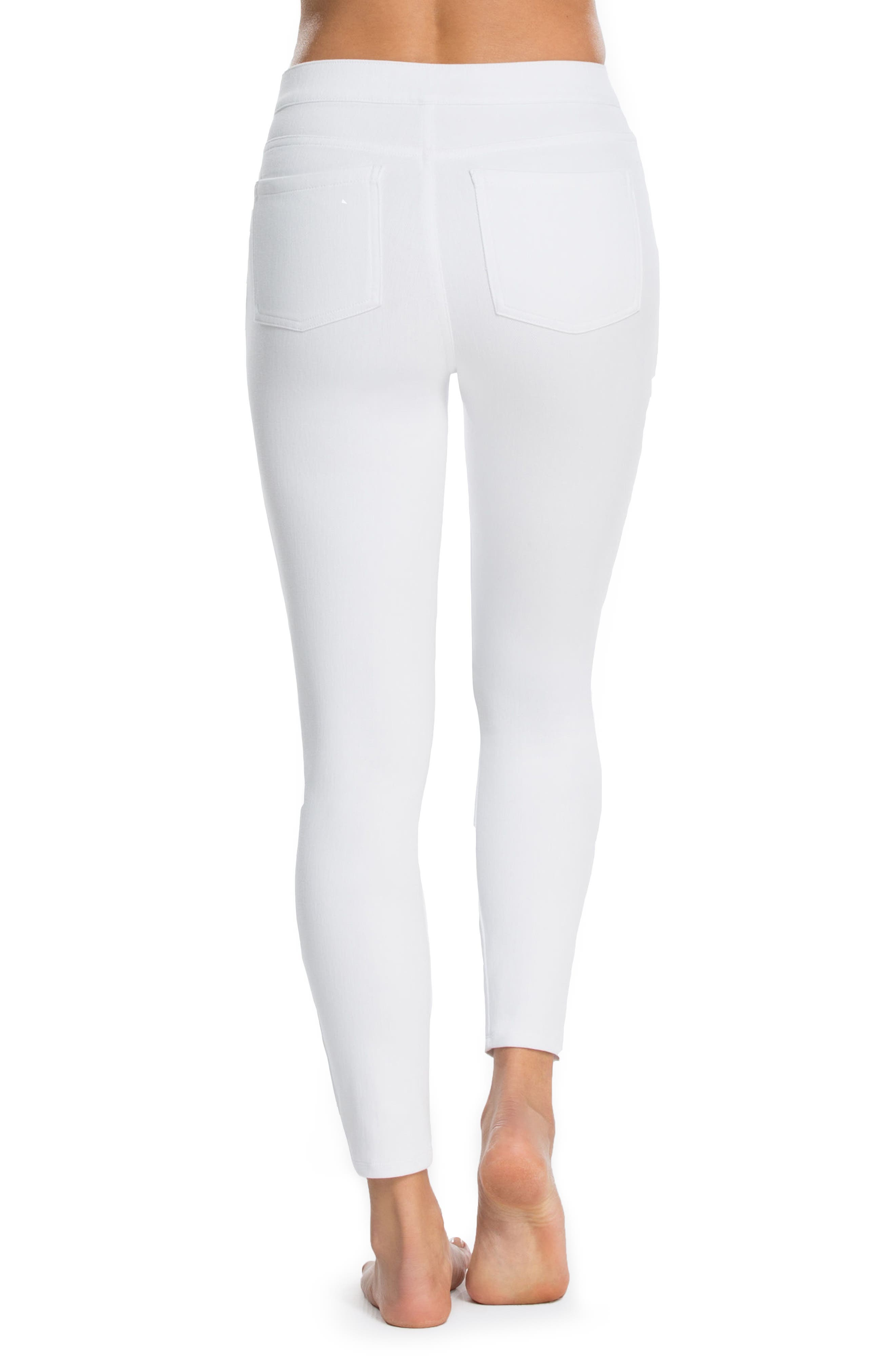 Alternate Image 2  - SPANX® Denim Crop Leggings