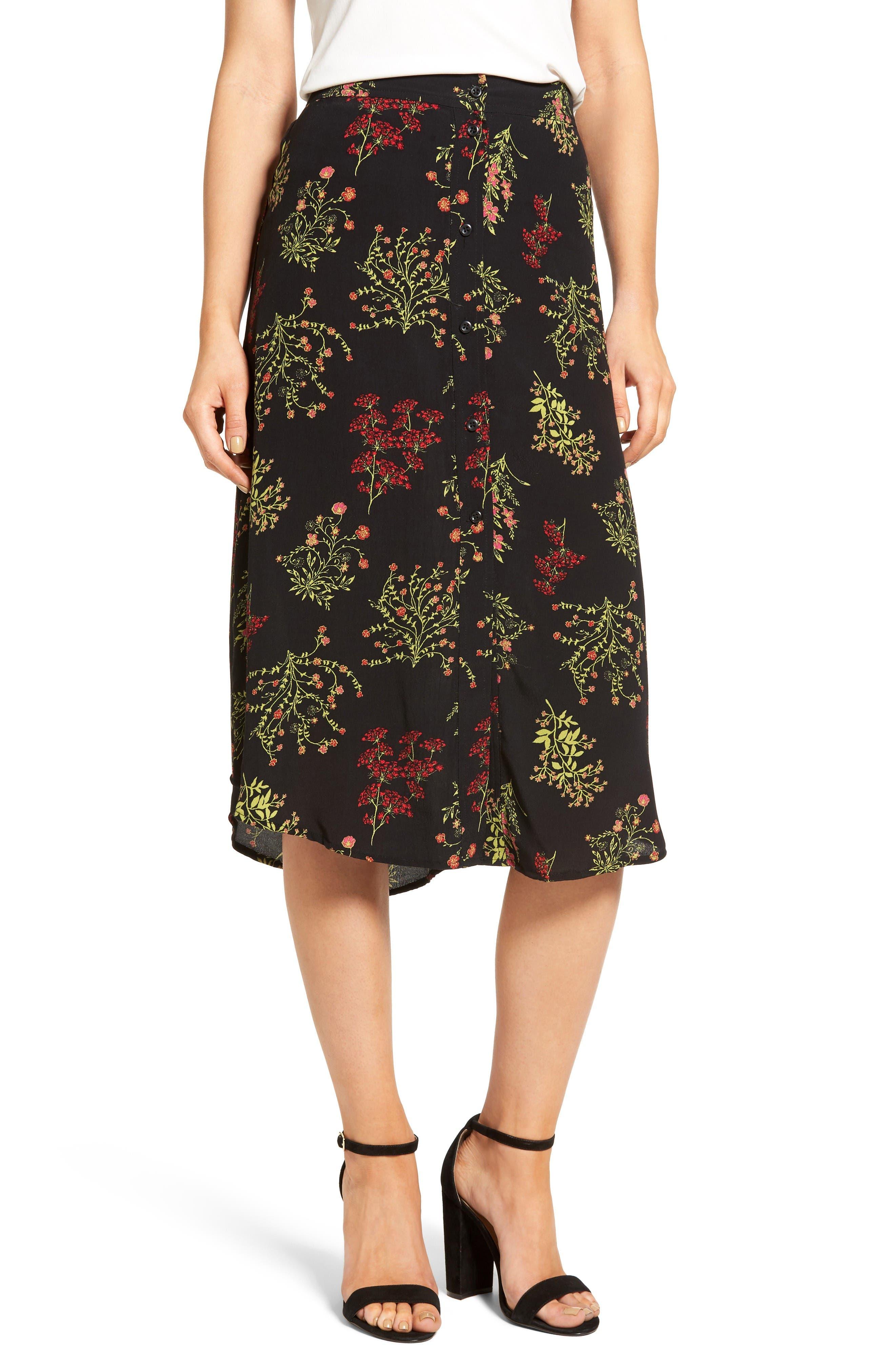 BP. Floral Midi Skirt