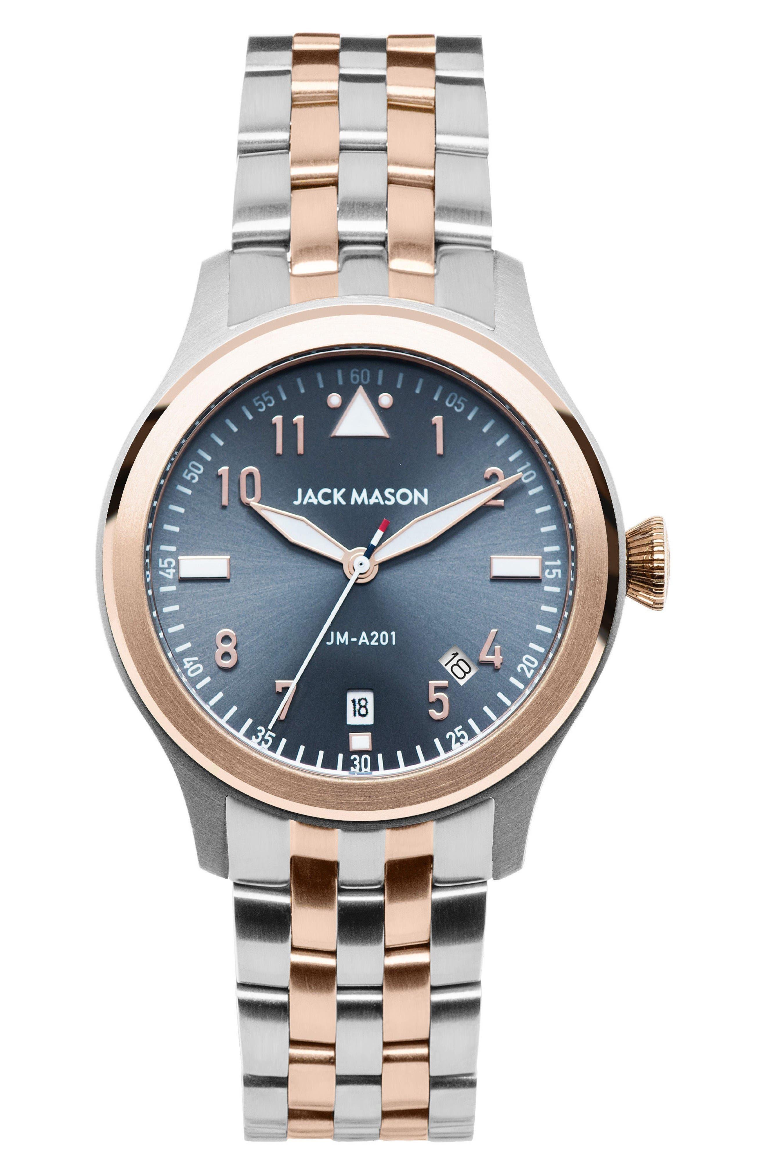 Jack Mason Aviation Bracelet Watch, 36mm