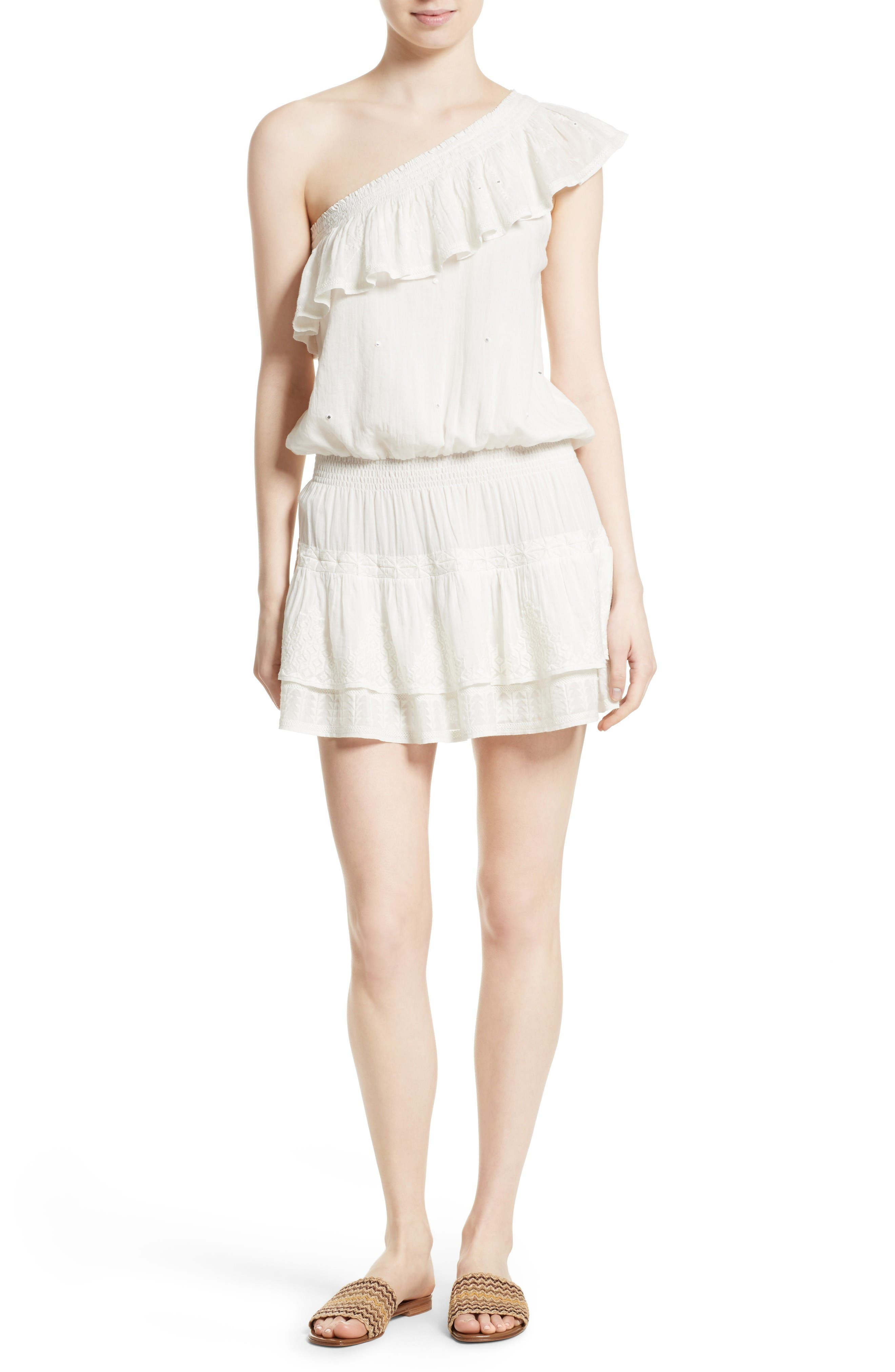 Joie Kolda Ruffle One-Shoulder Dress