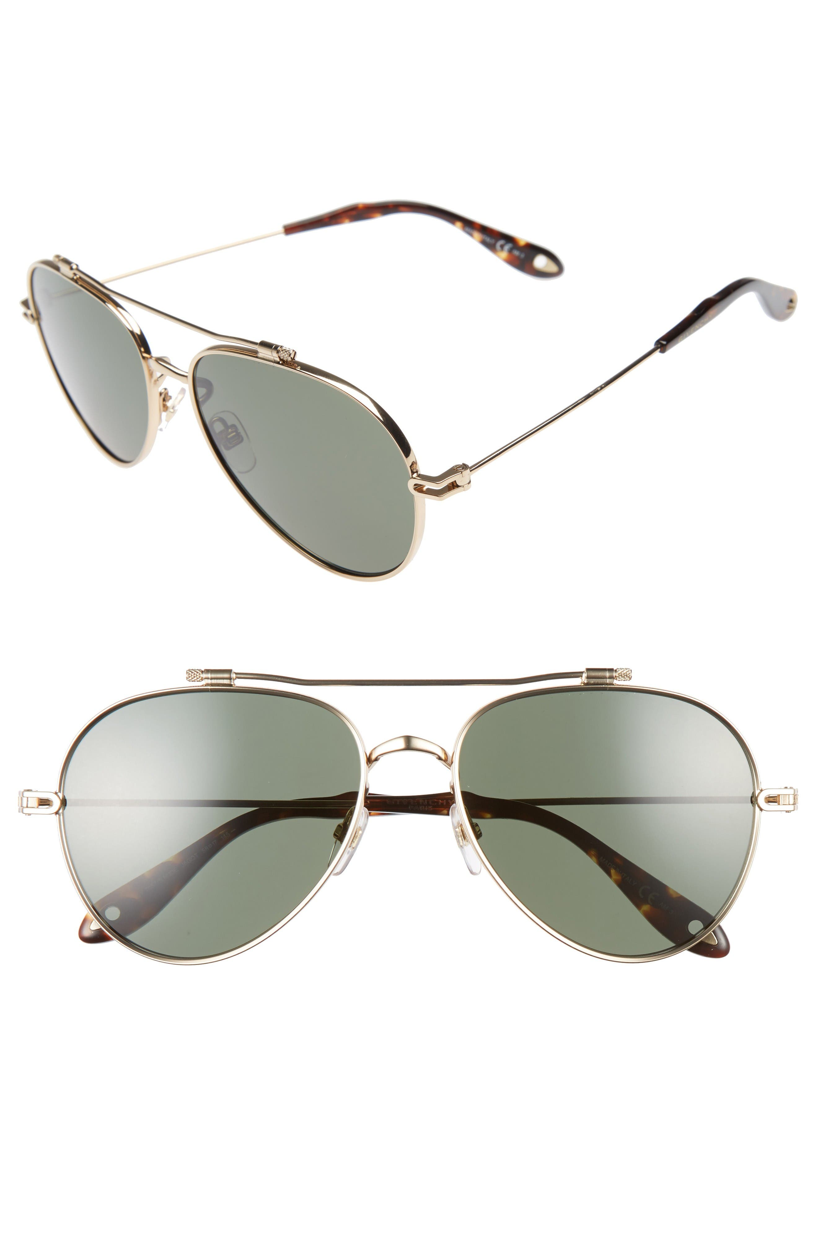 Givenchy 58mm Aviator Sunglasses