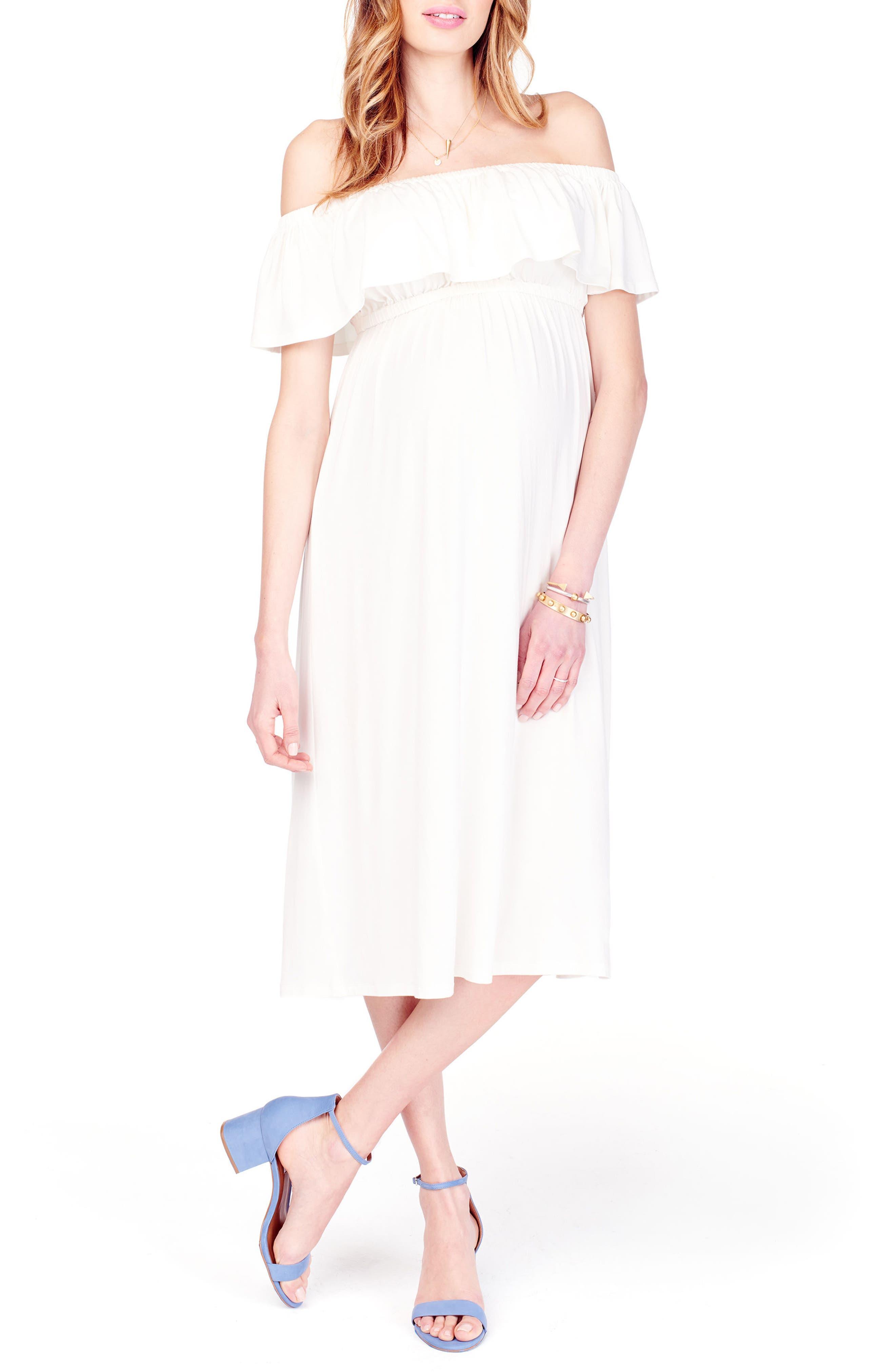 Ingrid & Isabel® Off the Shoulder Maternity Midi Dress