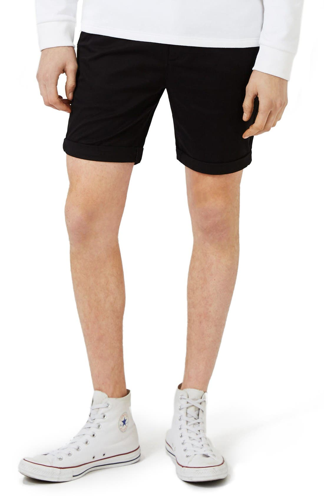 Topman Stretch Skinny Fit Chino Shorts