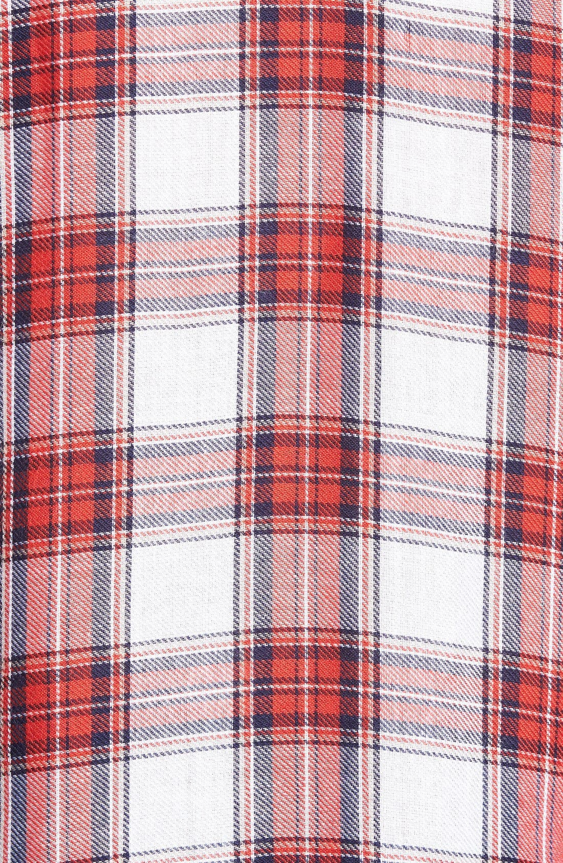 Alternate Image 3  - WAYF Long Sleeve Plaid Blouse