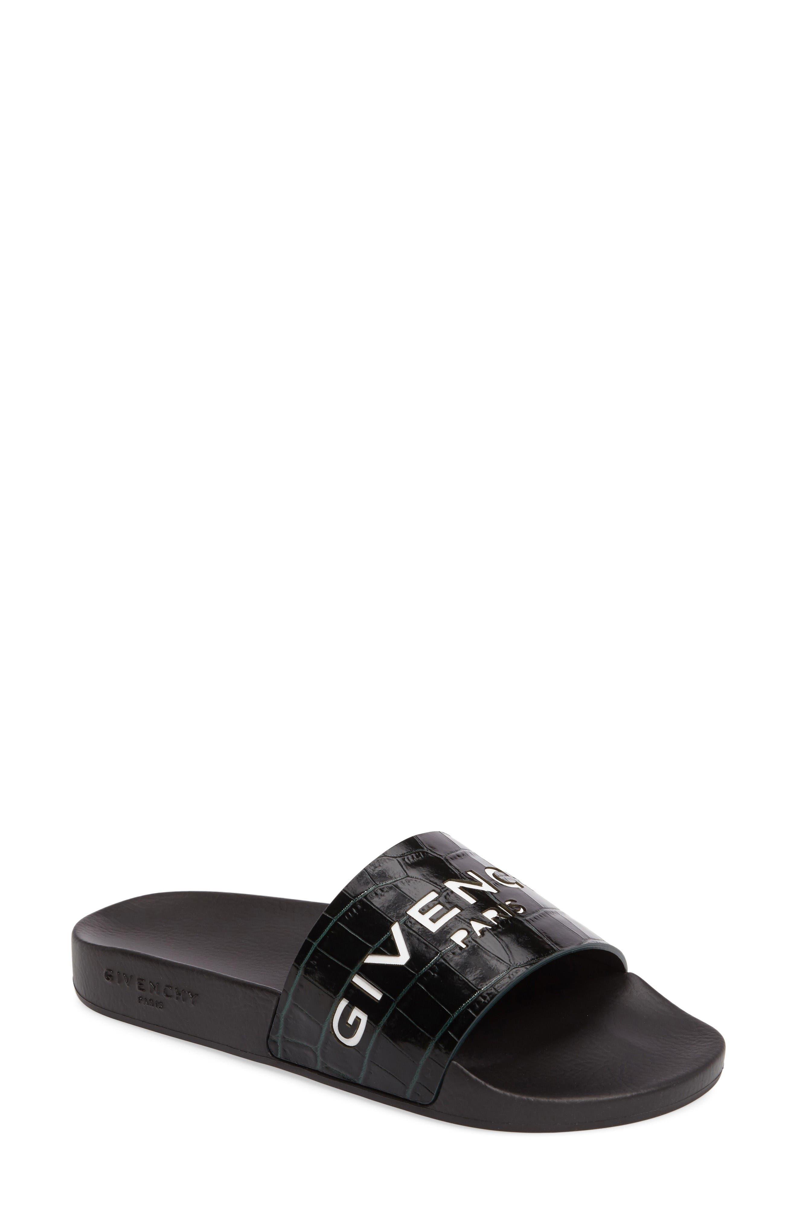 Alternate Image 1 Selected - Givenchy Logo Slide Sandal (Women)