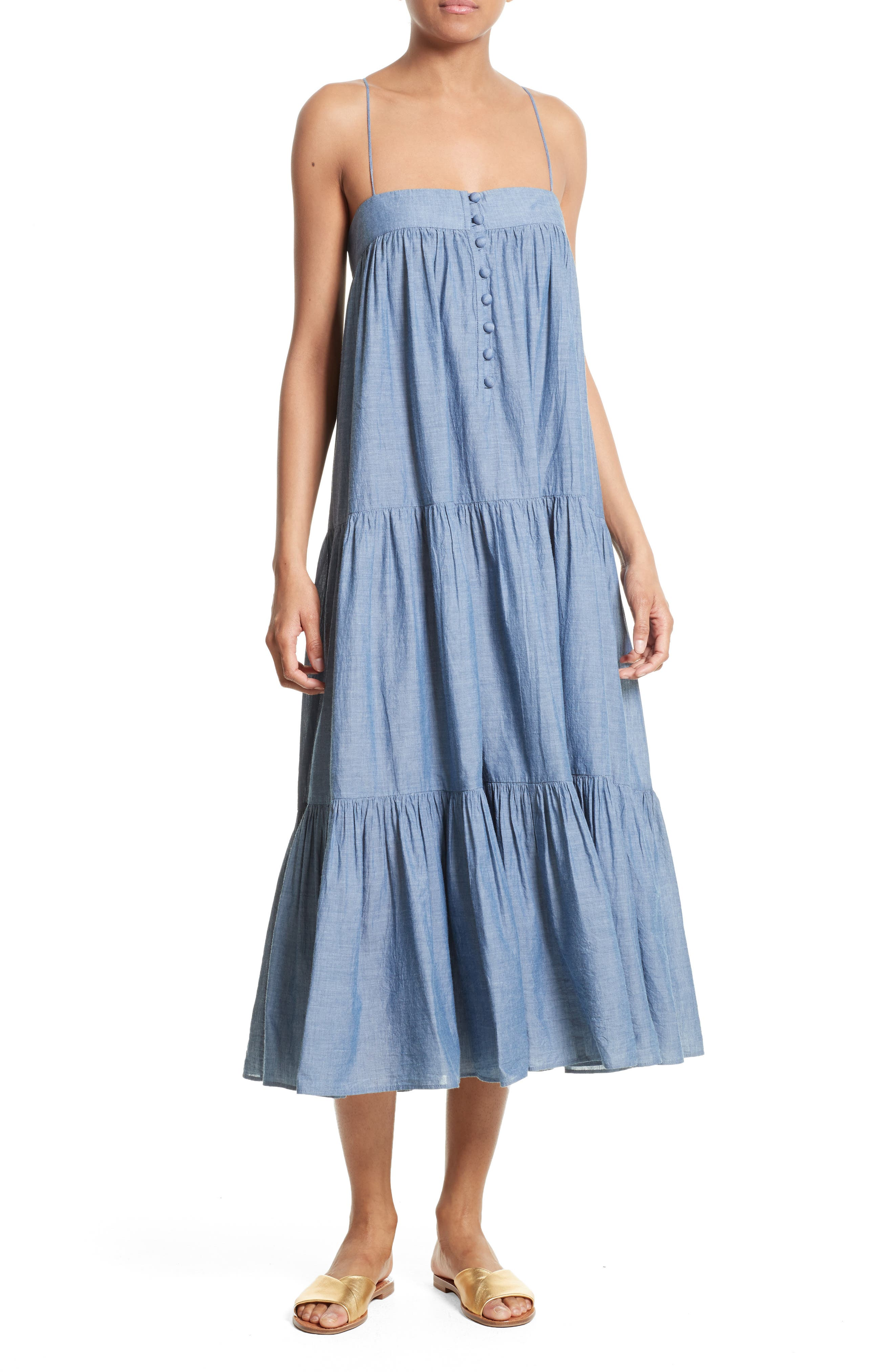 Alternate Image 1 Selected - Apiece Apart Tangiers Chambray Dress
