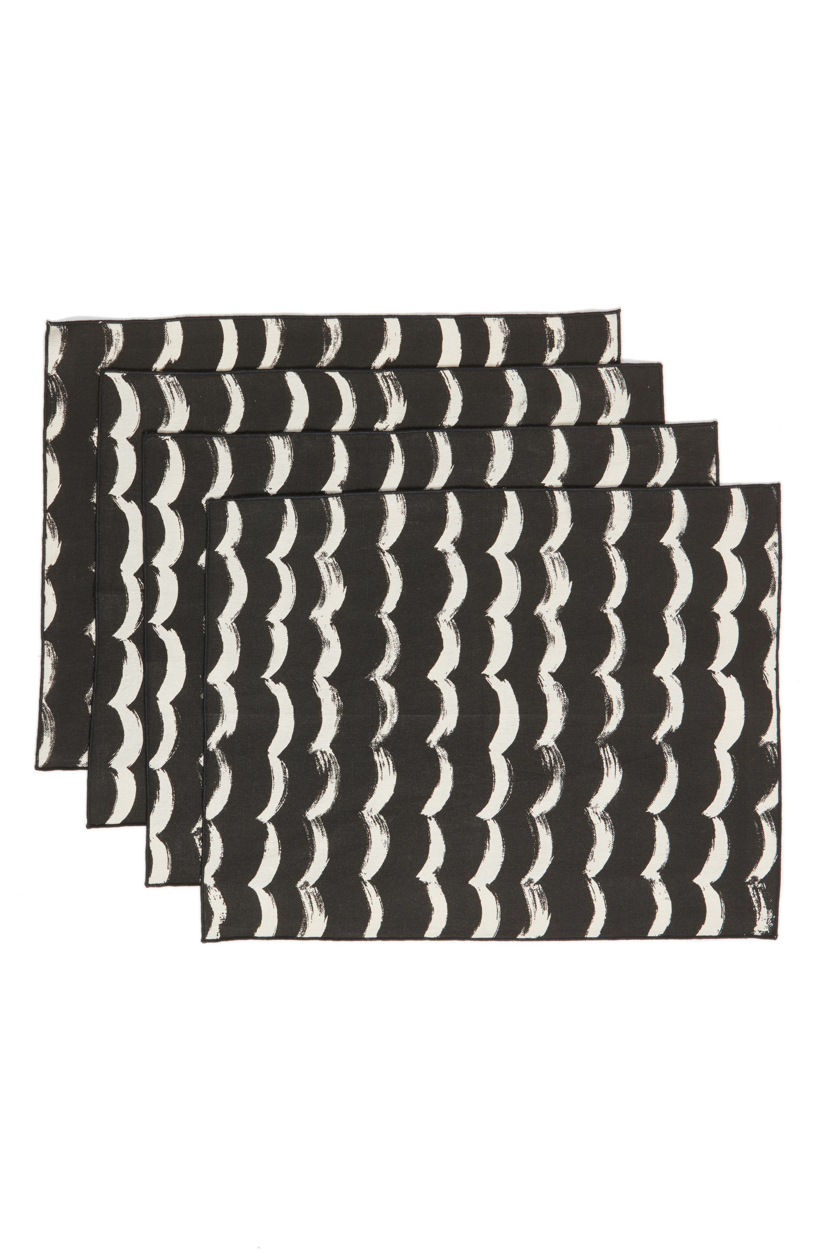 Minted Sketchy Scallops Set of 4 Cotton Placemats