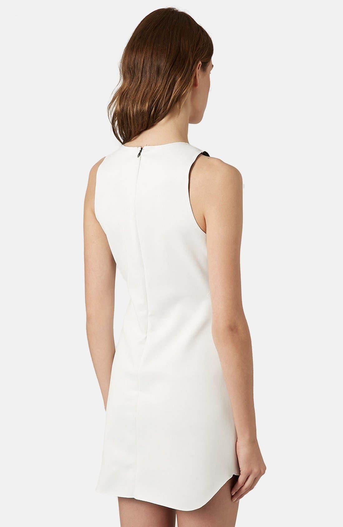Alternate Image 2  - Topshop Raw Edge Cutout Body-Con Dress