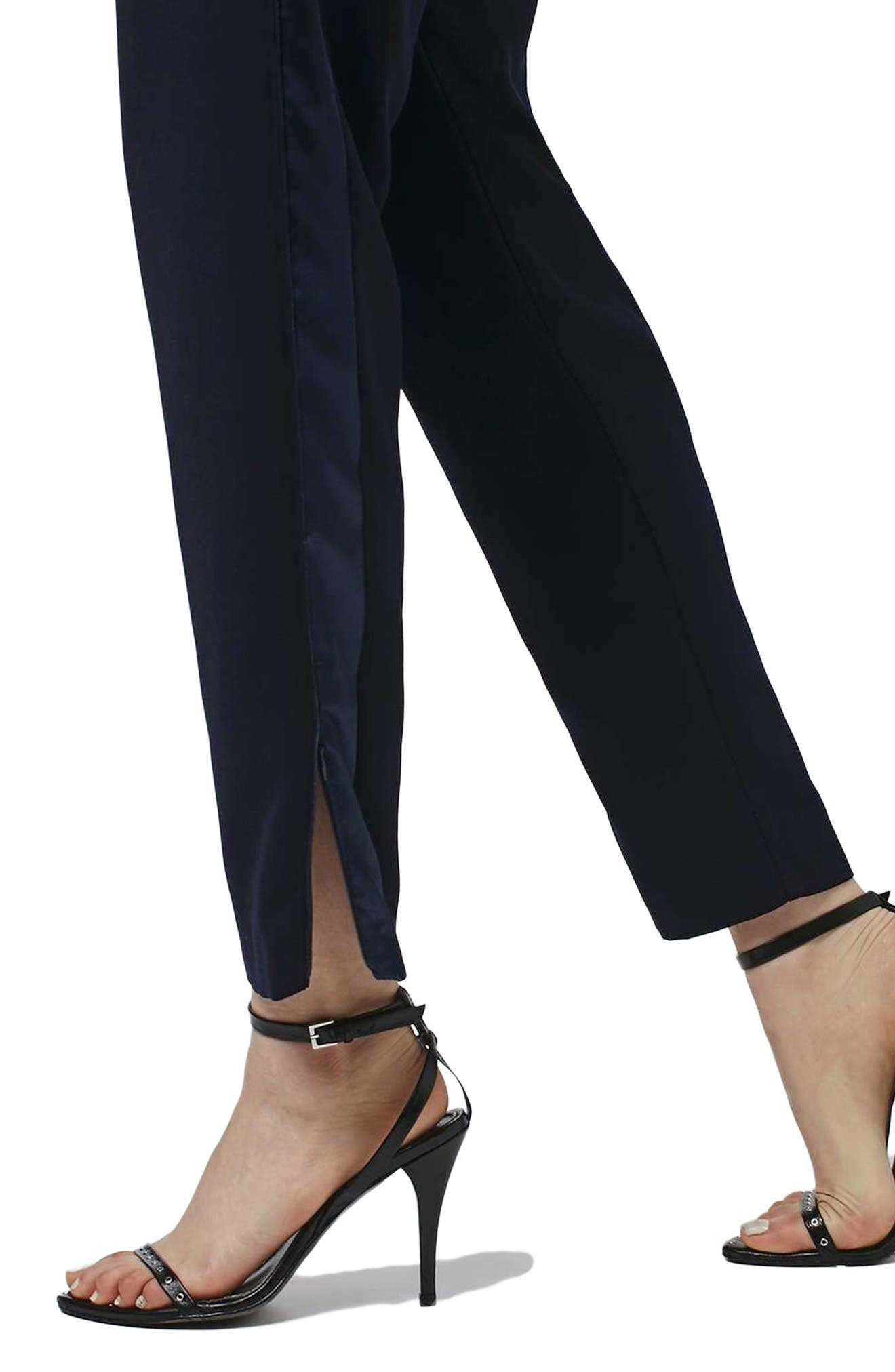 Alternate Image 5  - Topshop Contrast Piped Ankle Zip Jogger Pants