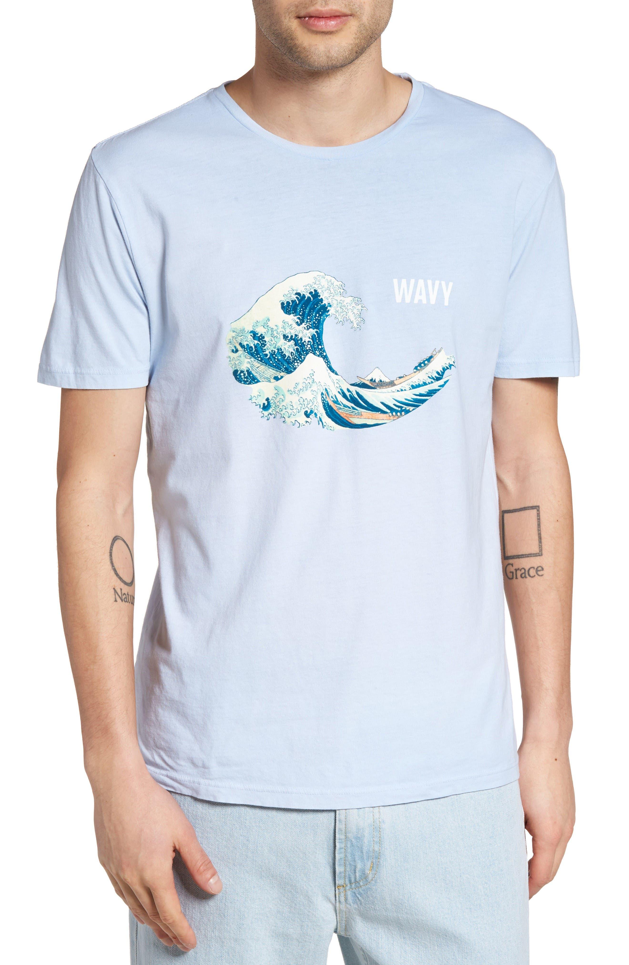 Altru Wavy Hokusai Graphic T-Shirt