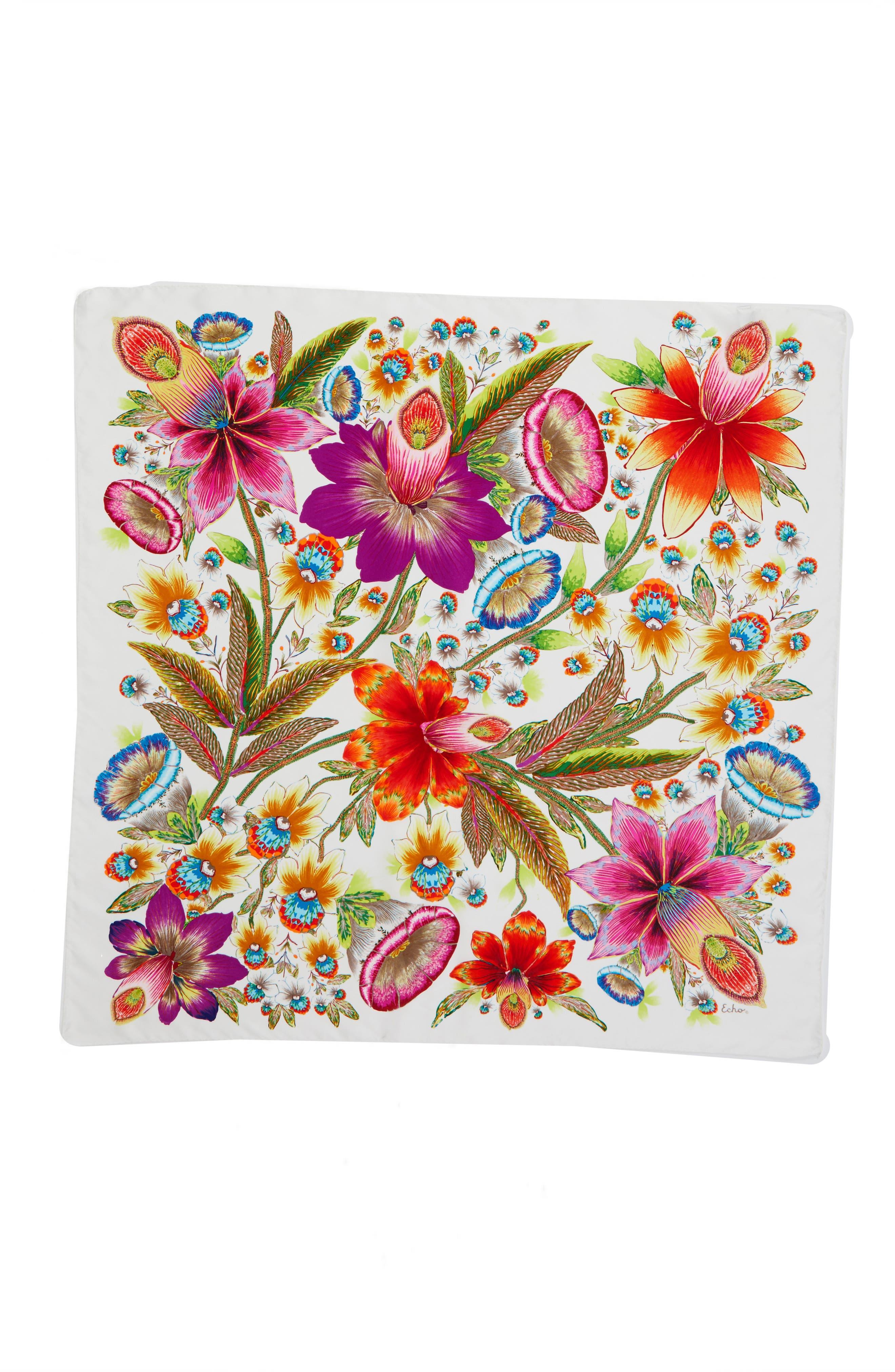 Alternate Image 2  - Echo Flora Silk Square Scarf