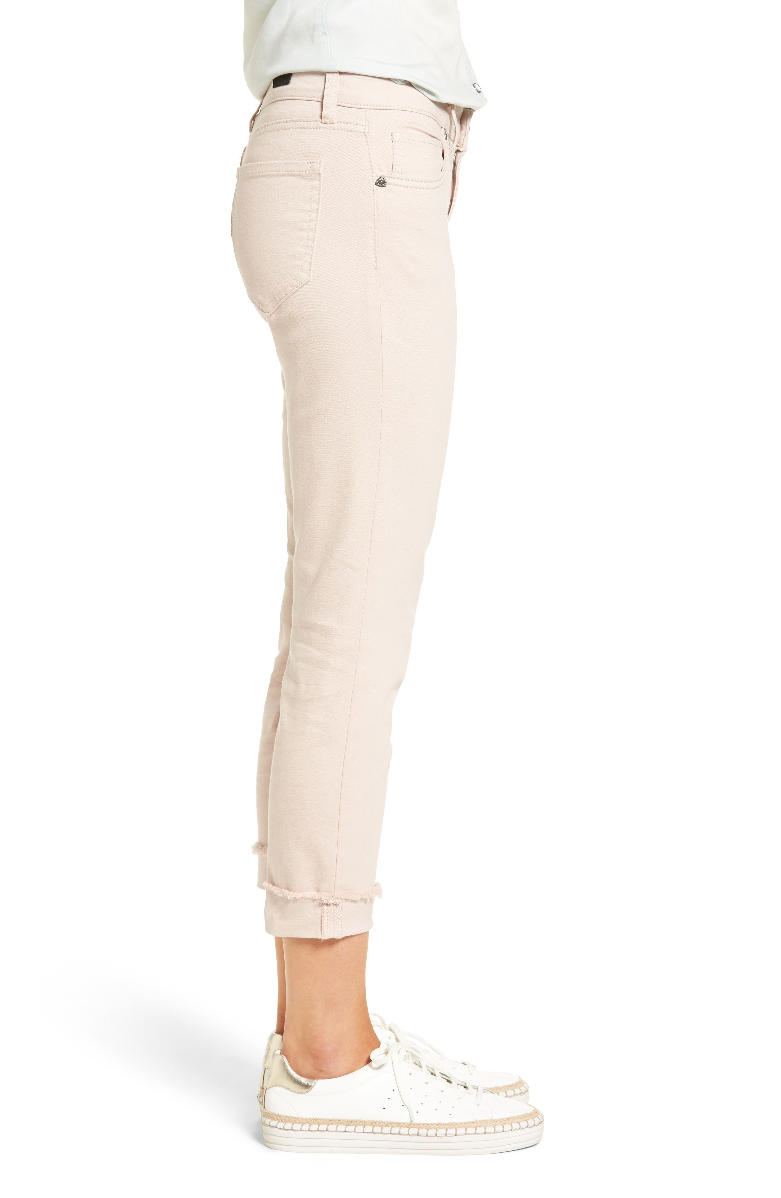 Alternate Image 3  - KUT from the Kloth Amy Stretch Slim Crop Jeans (Blush Rose)