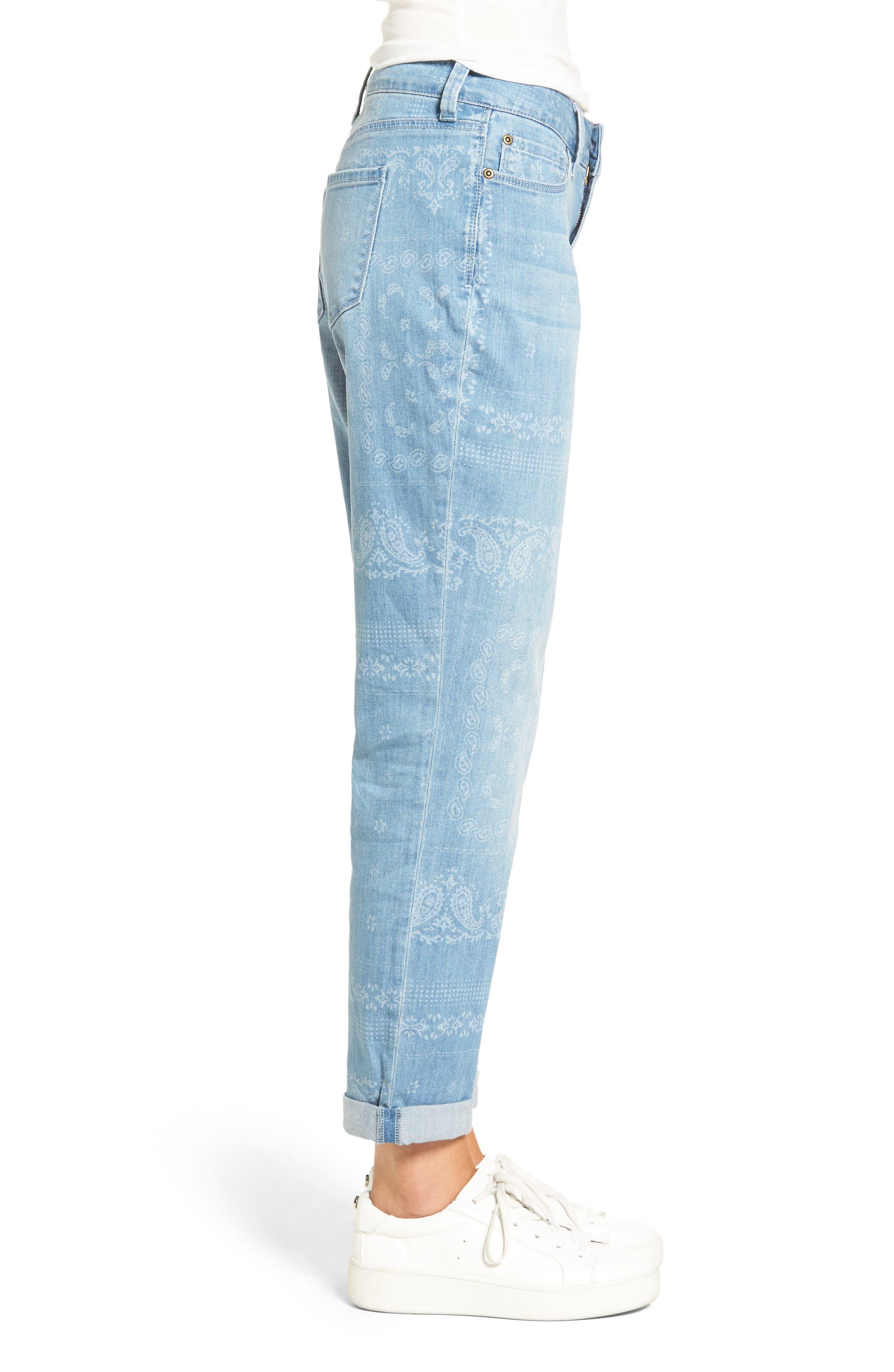 Alternate Image 3  - NYDJ Jessica Print Relaxed Boyfriend Jeans (Bandana) (Regular & Petite)