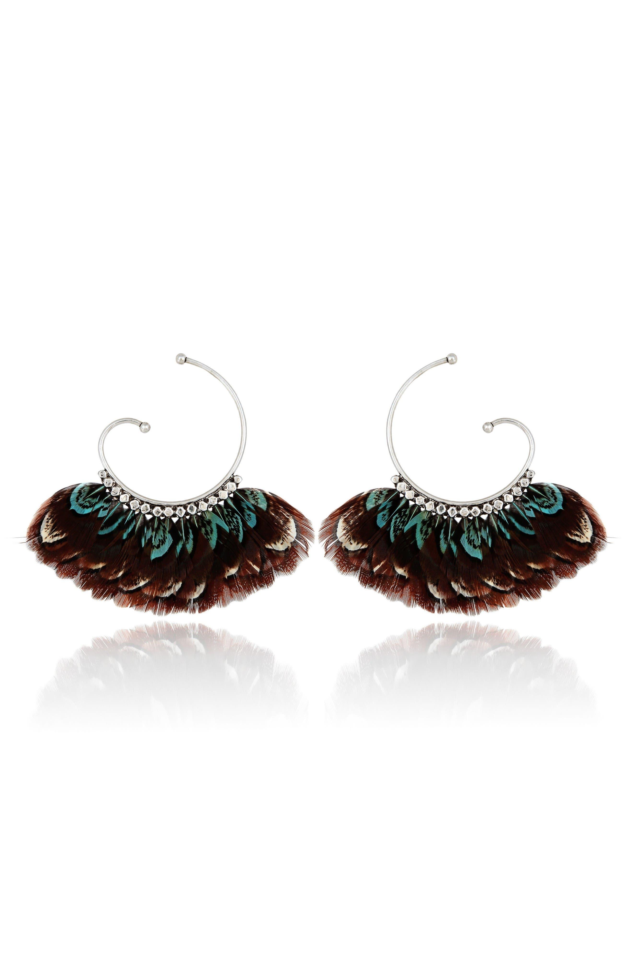 GAS BIJOUX 'Buzios' Feather Earrings