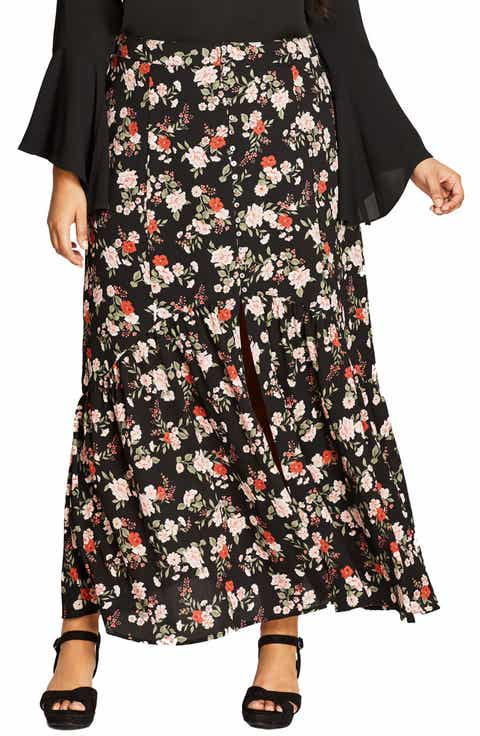 City Chic Free Spirit Maxi Skirt (Plus Size)