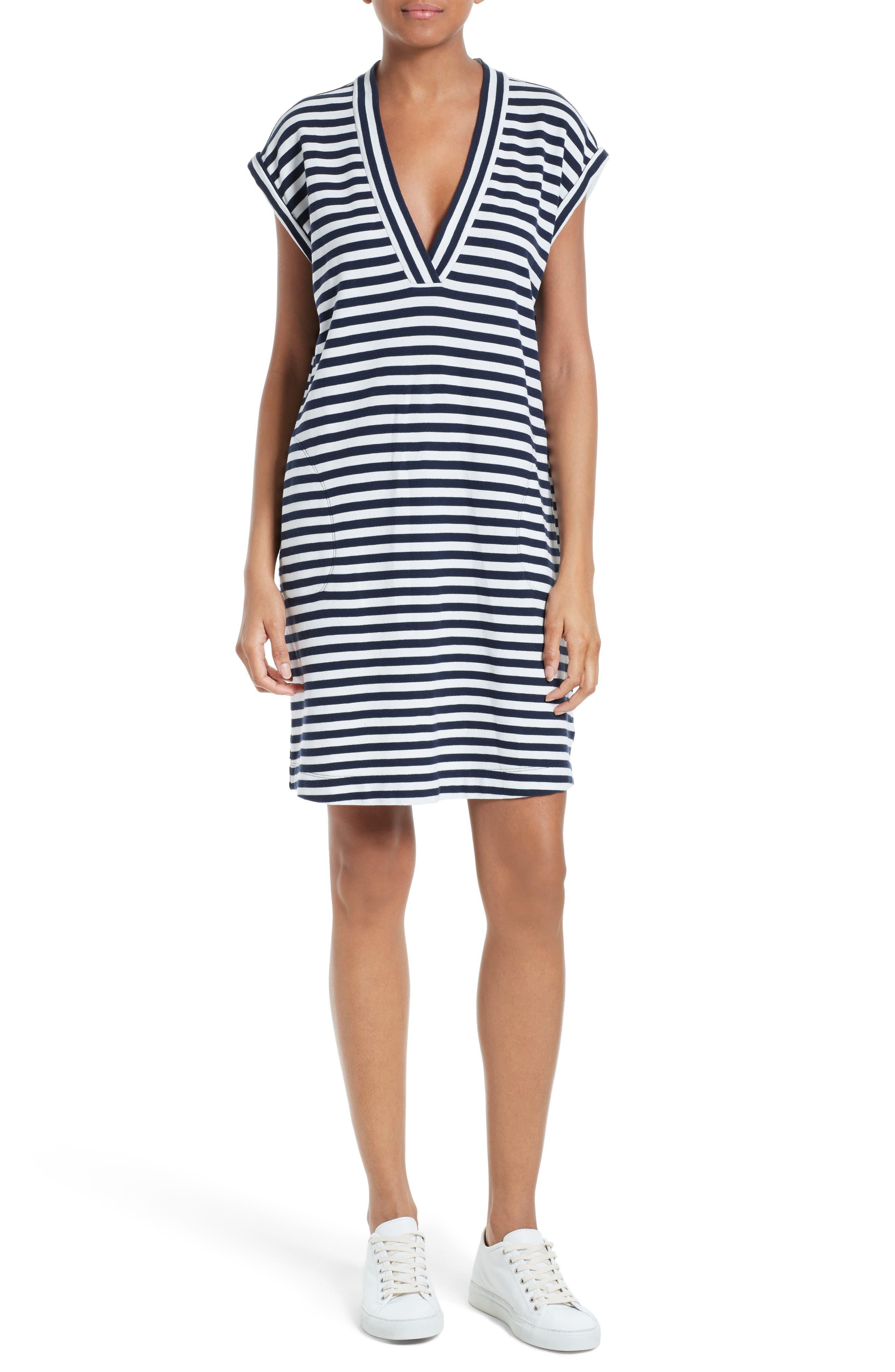 Alternate Image 1 Selected - ATM Anthony Thomas Melillo Extended Shoulder Piqué Dress