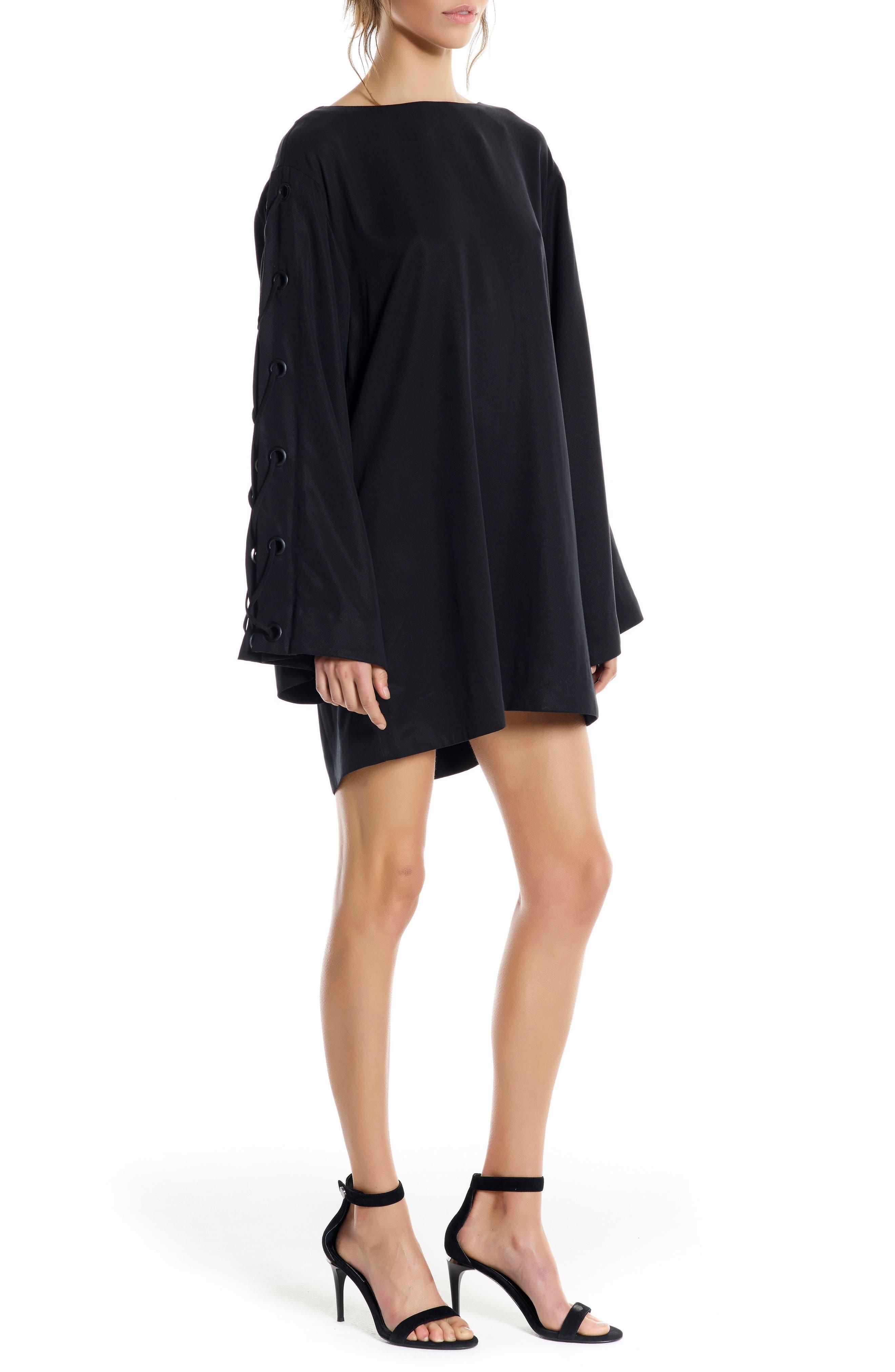 Alternate Image 3  - KENDALL + KYLIE Bell Sleeve Minidress